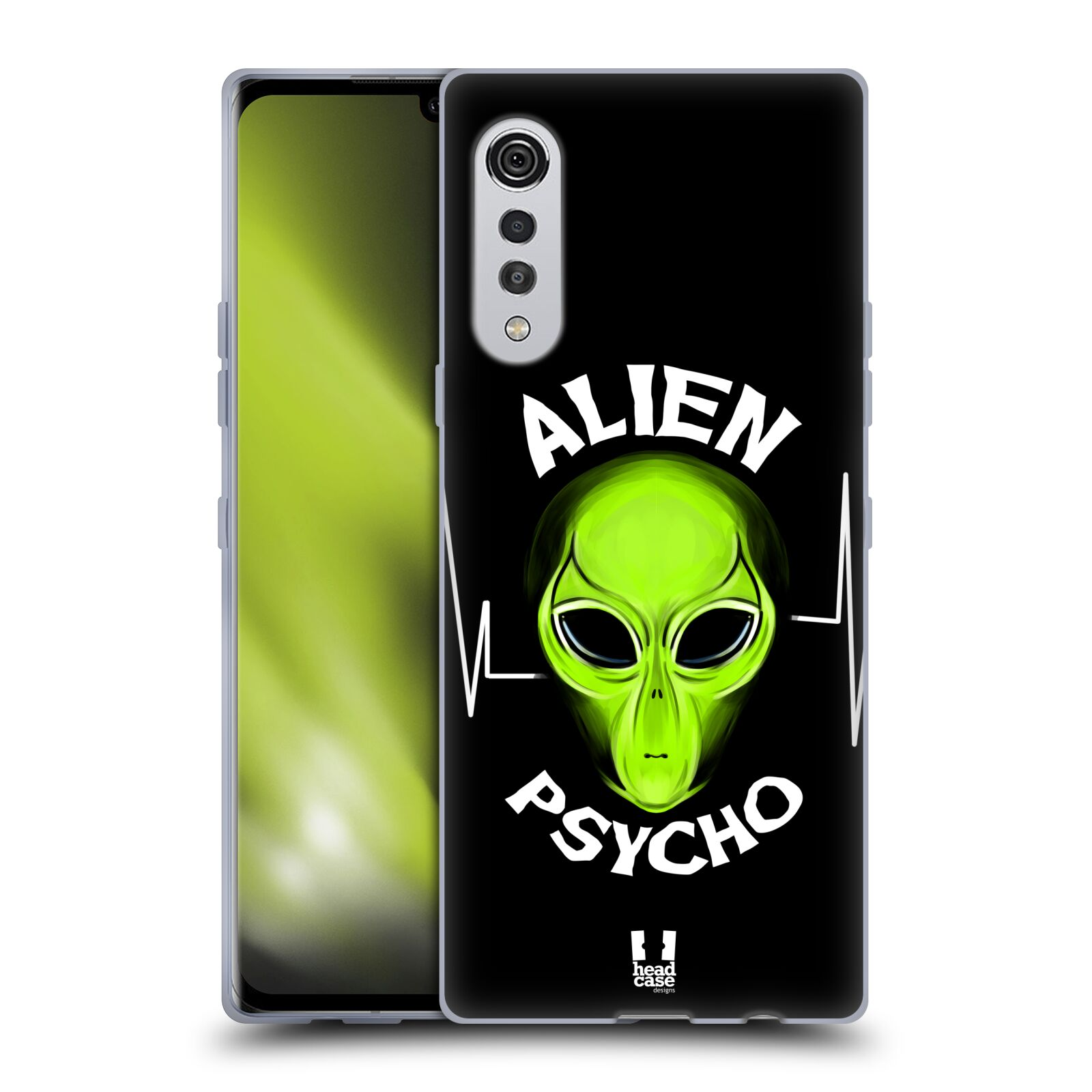 Silikonové pouzdro na mobil LG Velvet - Head Case - ALIENS PSYCHO