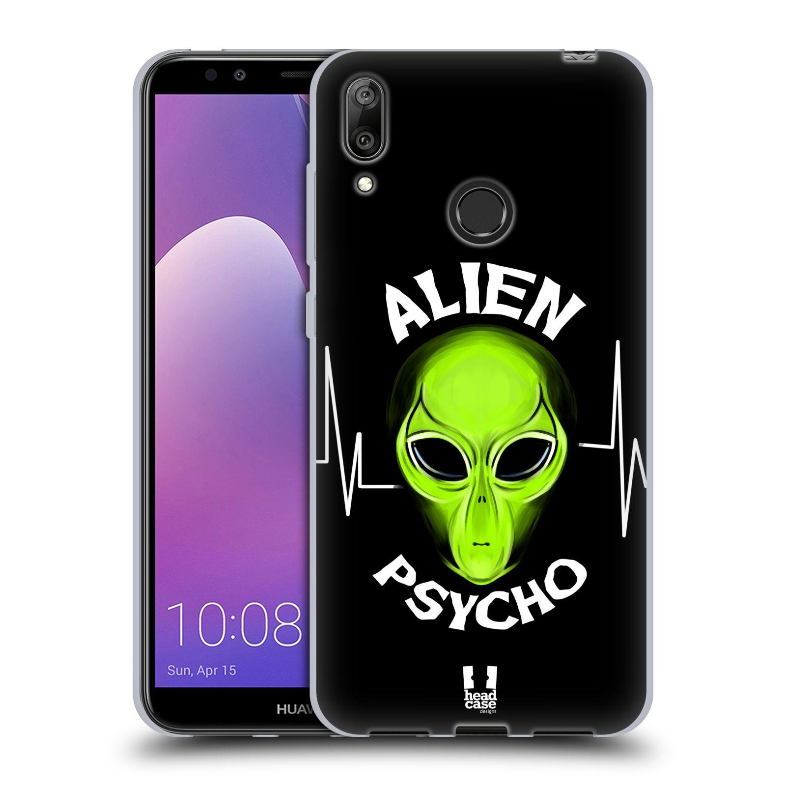 Silikonové pouzdro na mobil Huawei Y7 (2019) - Head Case - ALIENS PSYCHO