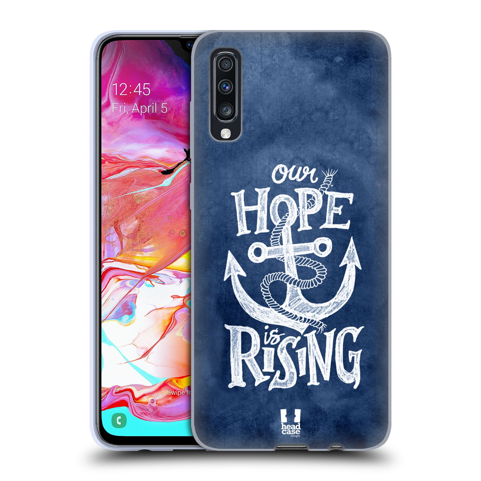 Silikonové pouzdro na mobil Samsung Galaxy A70 - Head Case - KOTVA RISING