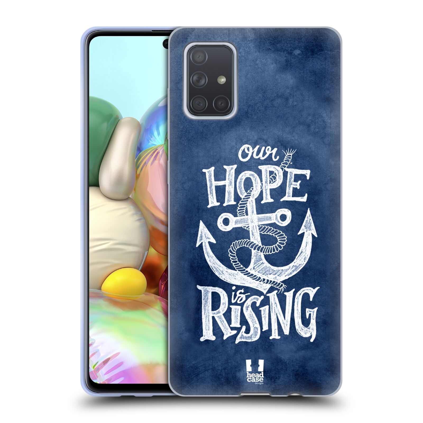 Silikonové pouzdro na mobil Samsung Galaxy A71 - Head Case - KOTVA RISING