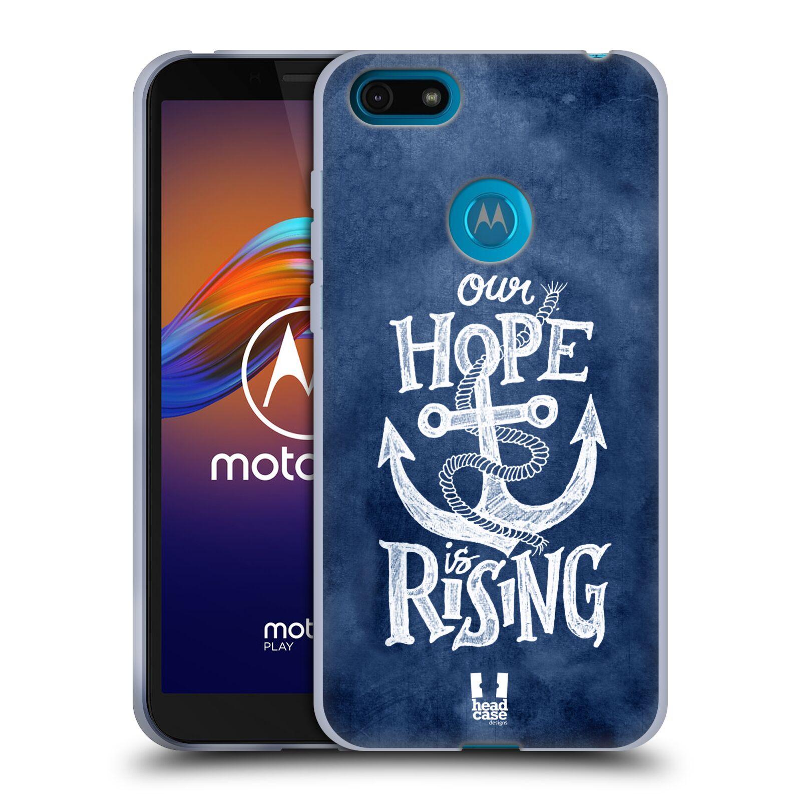 Silikonové pouzdro na mobil Motorola Moto E6 Play - Head Case - KOTVA RISING