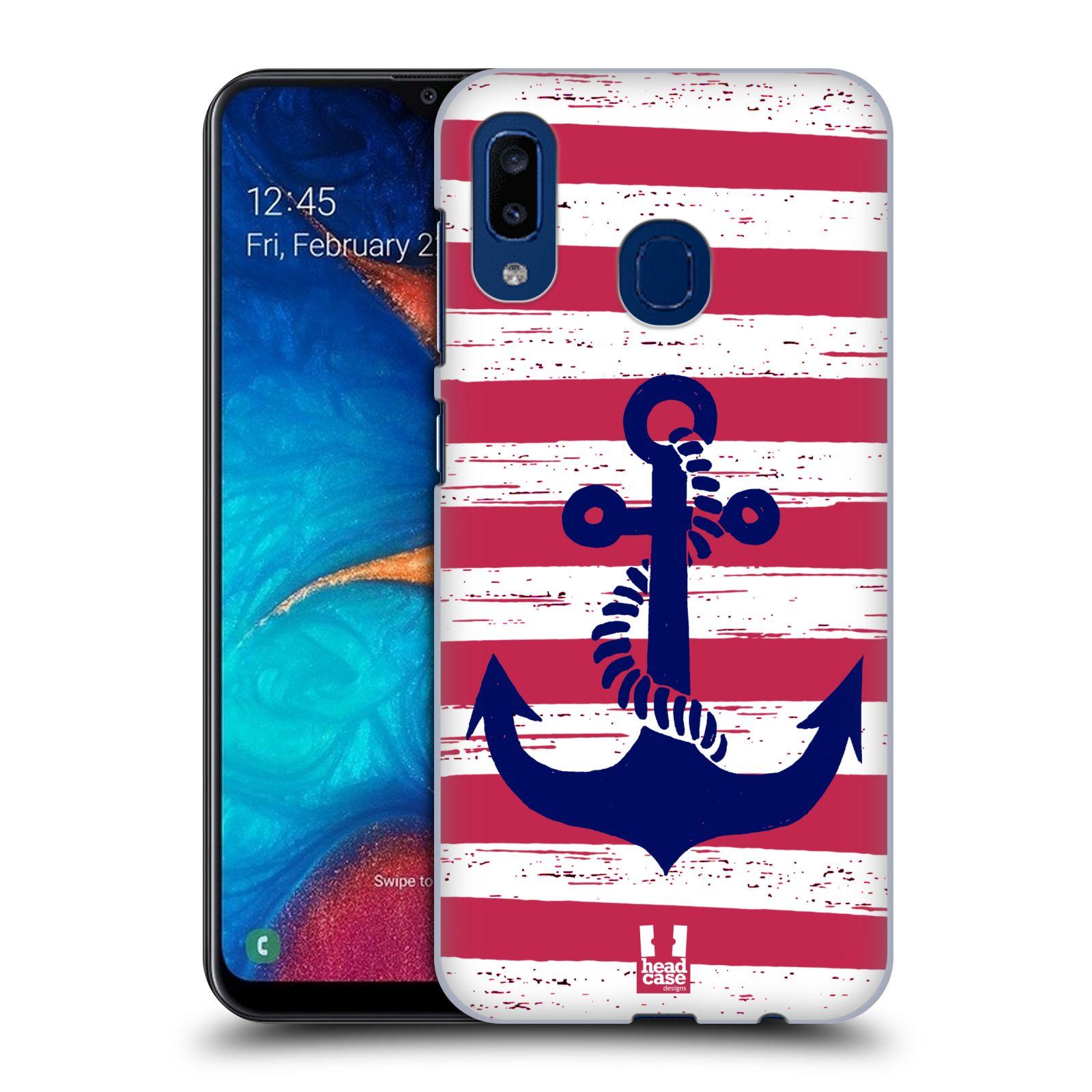 Plastové pouzdro na mobil Samsung Galaxy A20 - Head Case - KOTVA S PRUHY