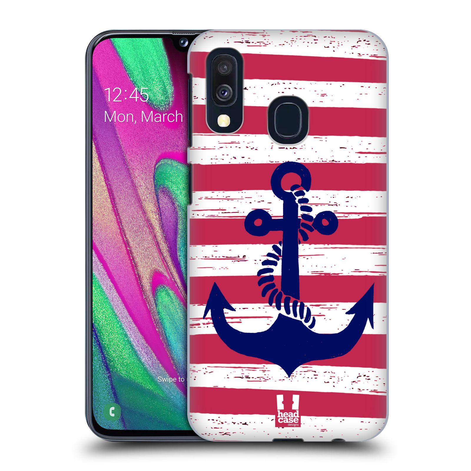 Plastové pouzdro na mobil Samsung Galaxy A40 - Head Case - KOTVA S PRUHY