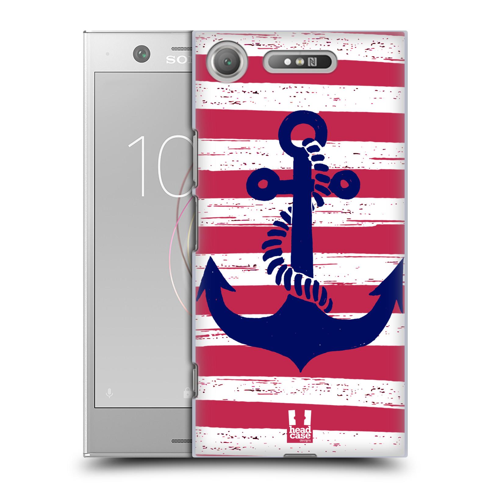 Plastové pouzdro na mobil Sony Xperia XZ1 - Head Case - KOTVA S PRUHY