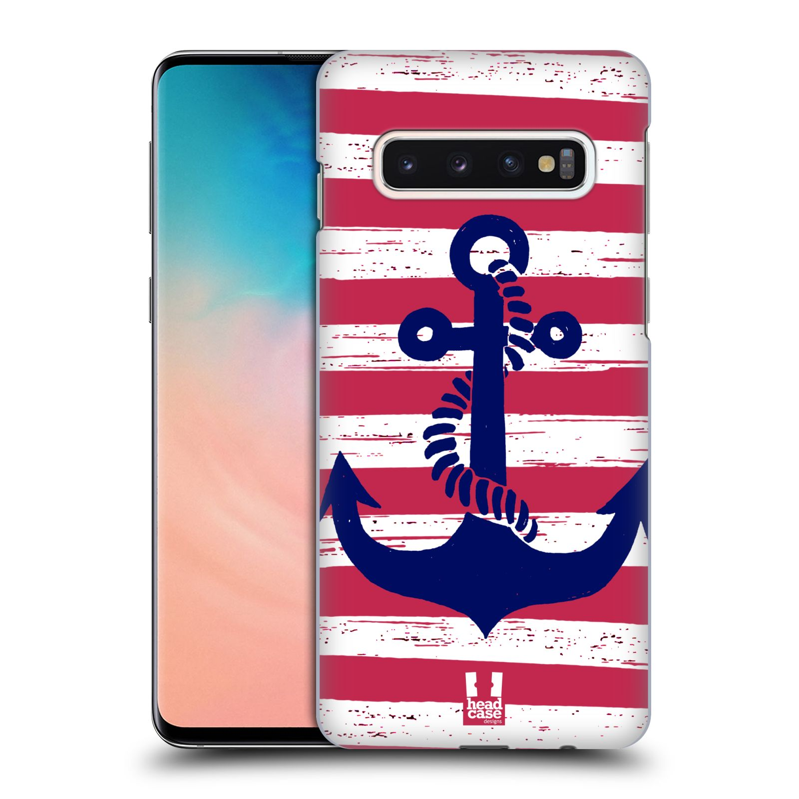 Plastové pouzdro na mobil Samsung Galaxy S10 - Head Case - KOTVA S PRUHY