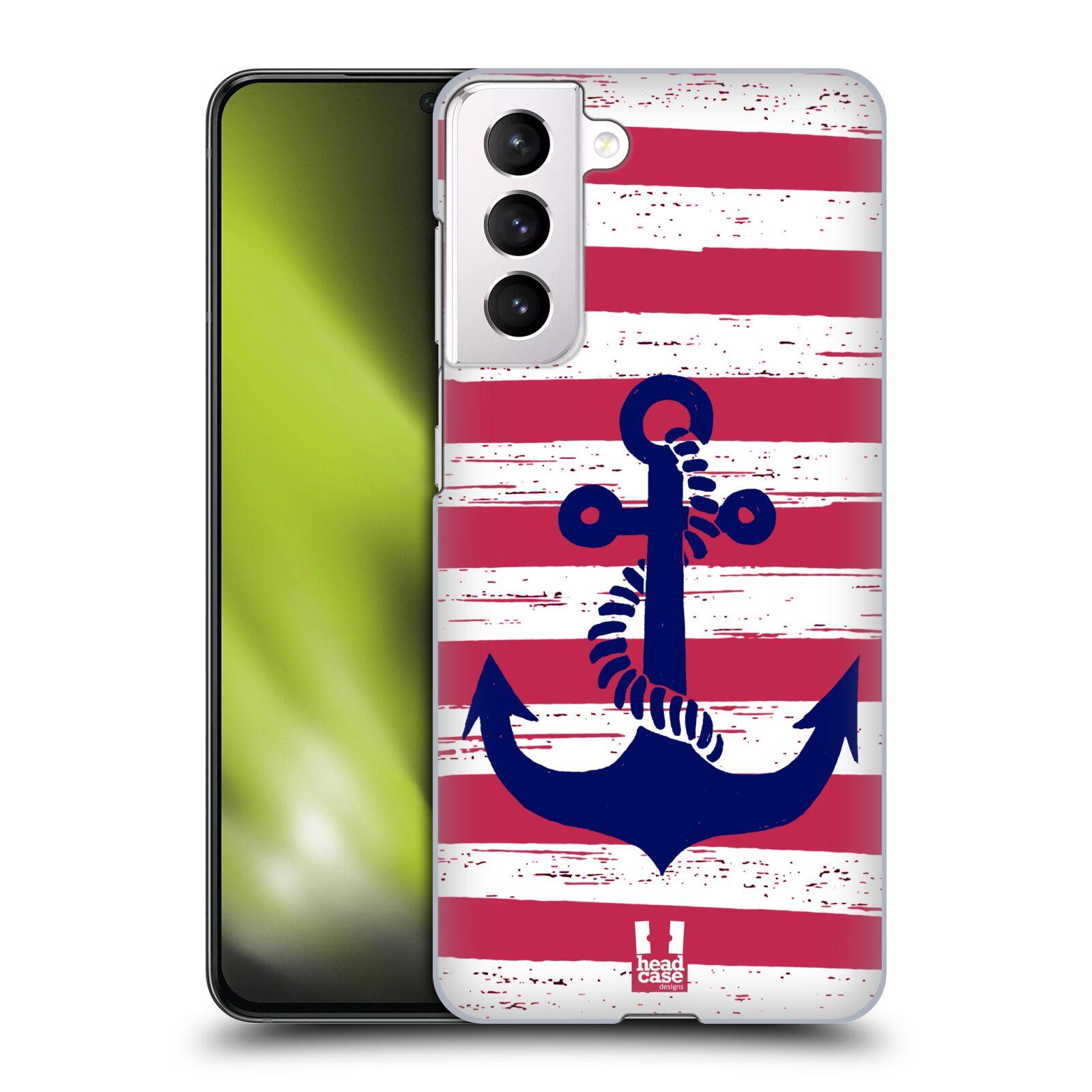 Plastové pouzdro na mobil Samsung Galaxy S21 5G - Head Case - KOTVA S PRUHY