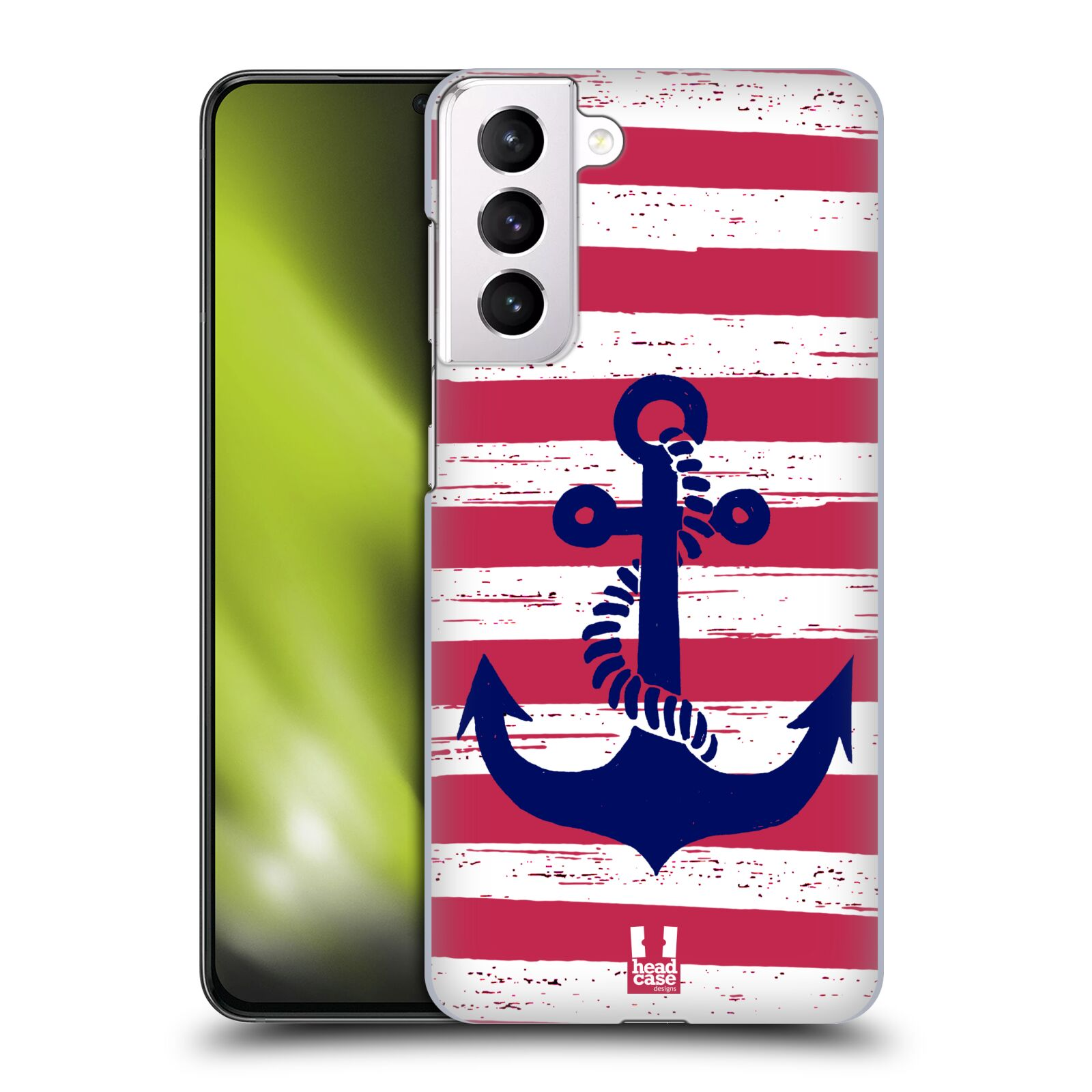 Plastové pouzdro na mobil Samsung Galaxy S21 Plus 5G - Head Case - KOTVA S PRUHY