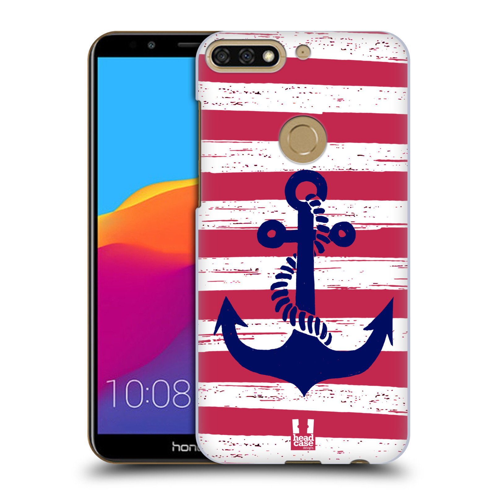 Plastové pouzdro na mobil Huawei Y7 Prime 2018 - Head Case - KOTVA S PRUHY