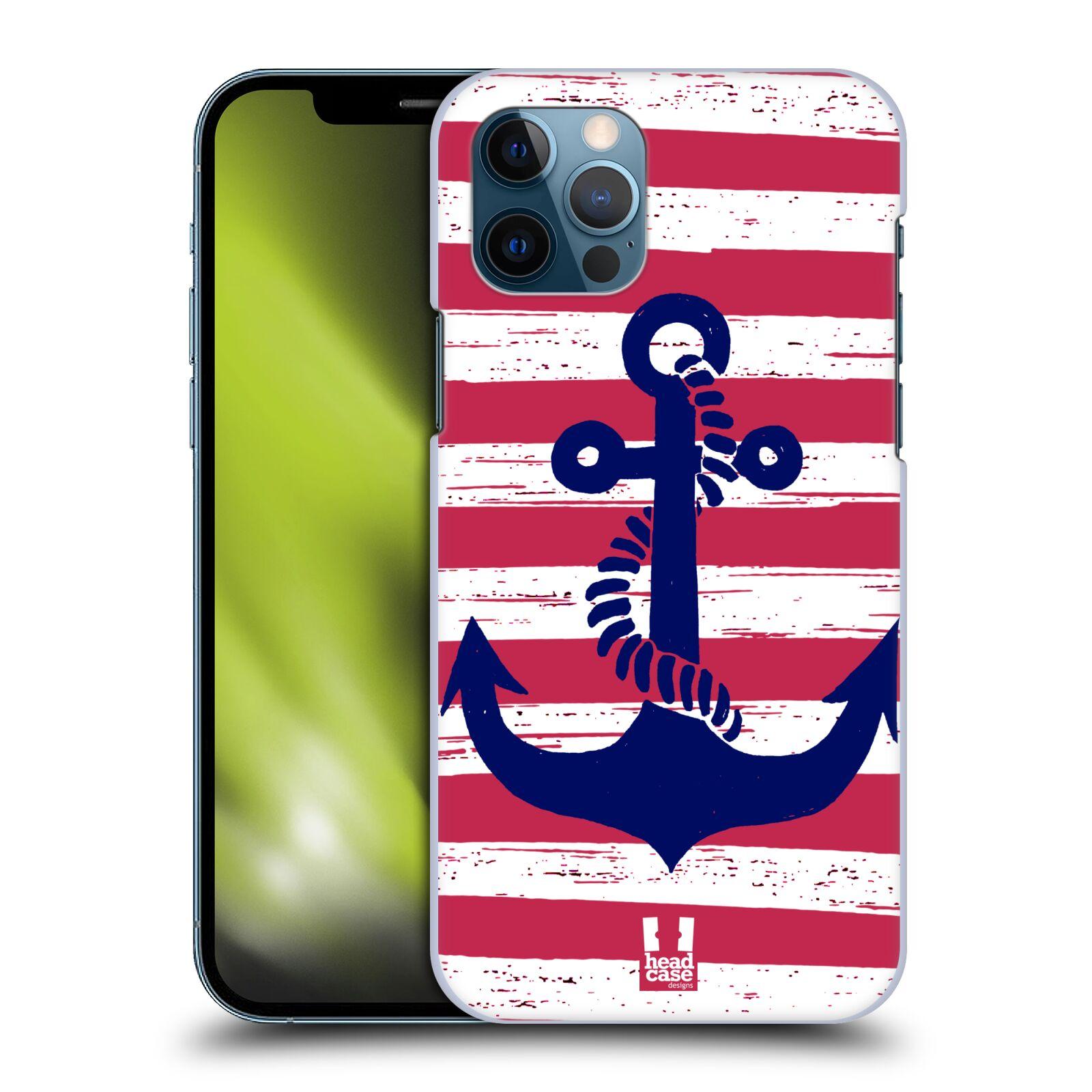 Plastové pouzdro na mobil Apple iPhone 12 / 12 Pro - Head Case - KOTVA S PRUHY