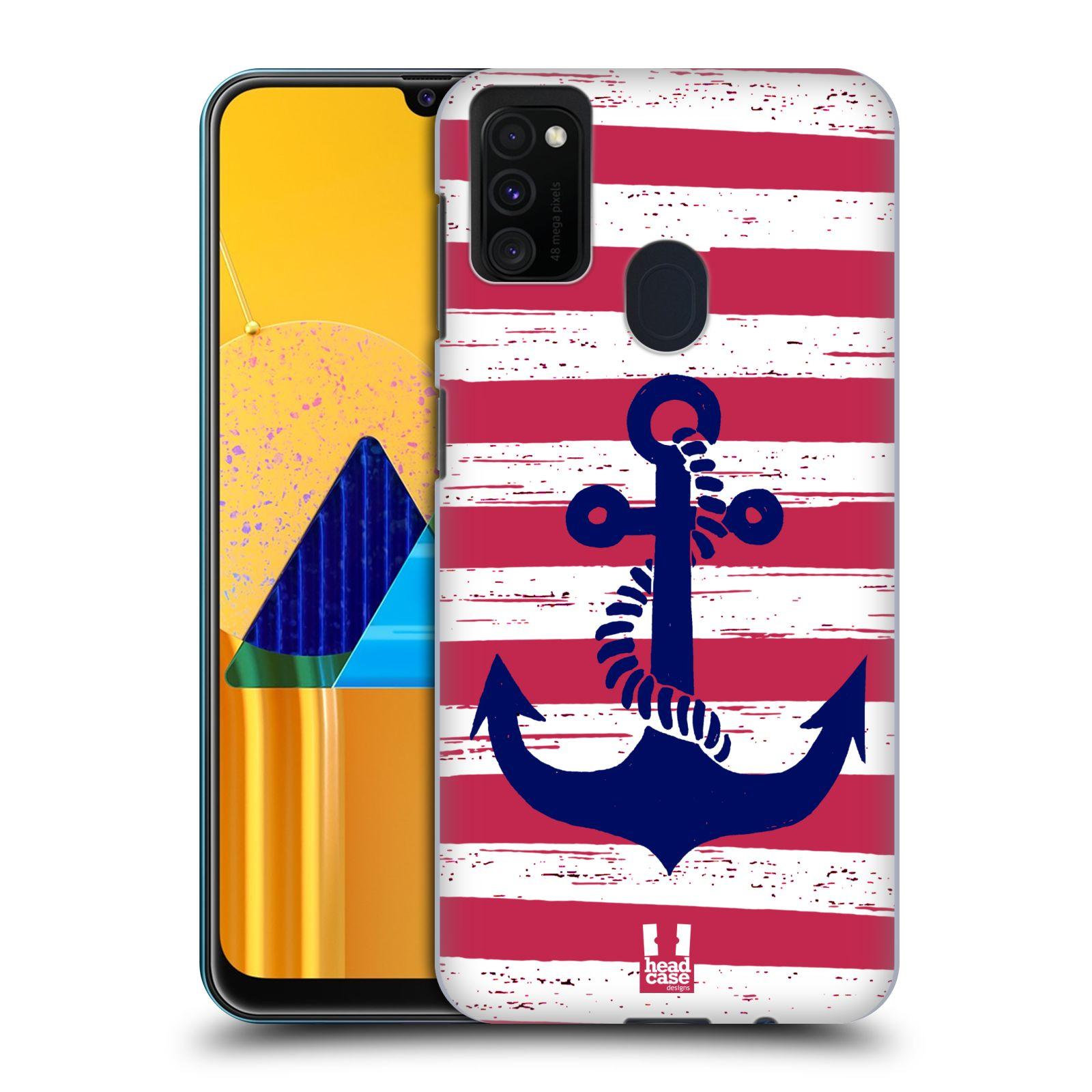 Plastové pouzdro na mobil Samsung Galaxy M21 - Head Case - KOTVA S PRUHY