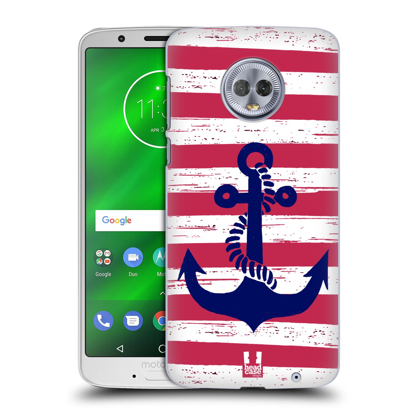 Plastové pouzdro na mobil Motorola Moto G6 Plus - Head Case - KOTVA S PRUHY