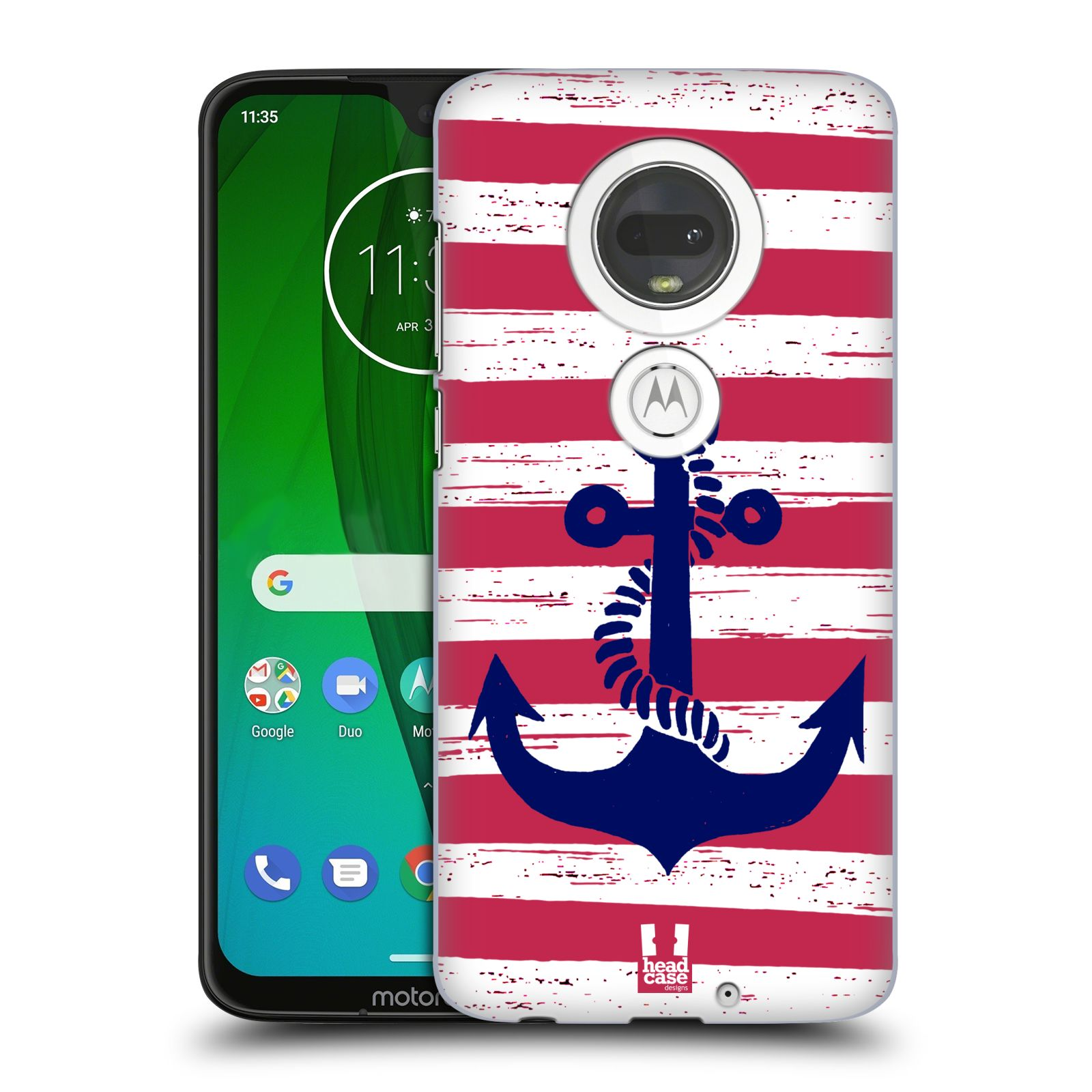 Plastové pouzdro na mobil Motorola Moto G7 - Head Case - KOTVA S PRUHY