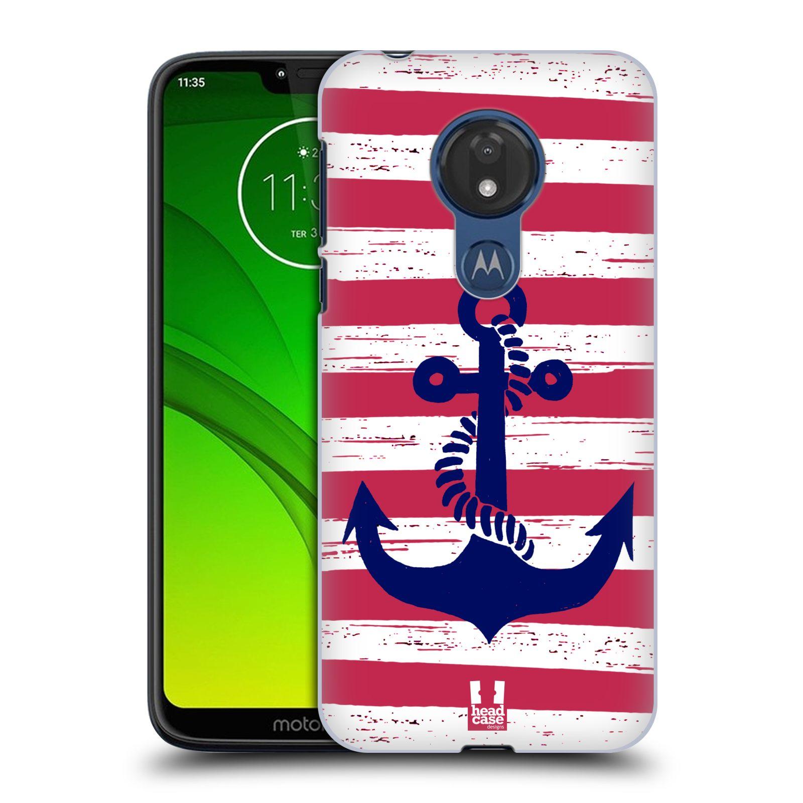 Plastové pouzdro na mobil Motorola Moto G7 Power - Head Case - KOTVA S PRUHY