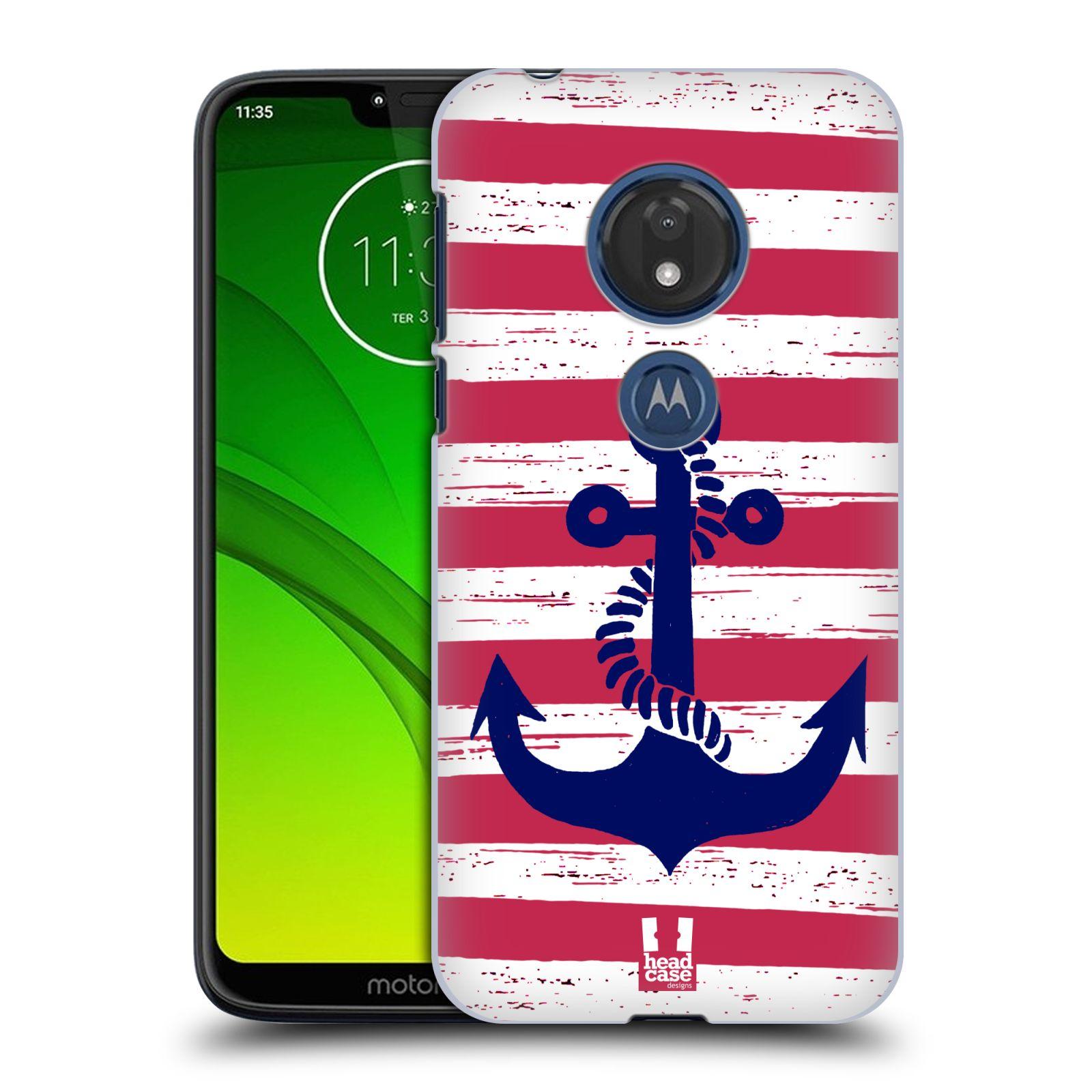 Plastové pouzdro na mobil Motorola Moto G7 Play - Head Case - KOTVA S PRUHY