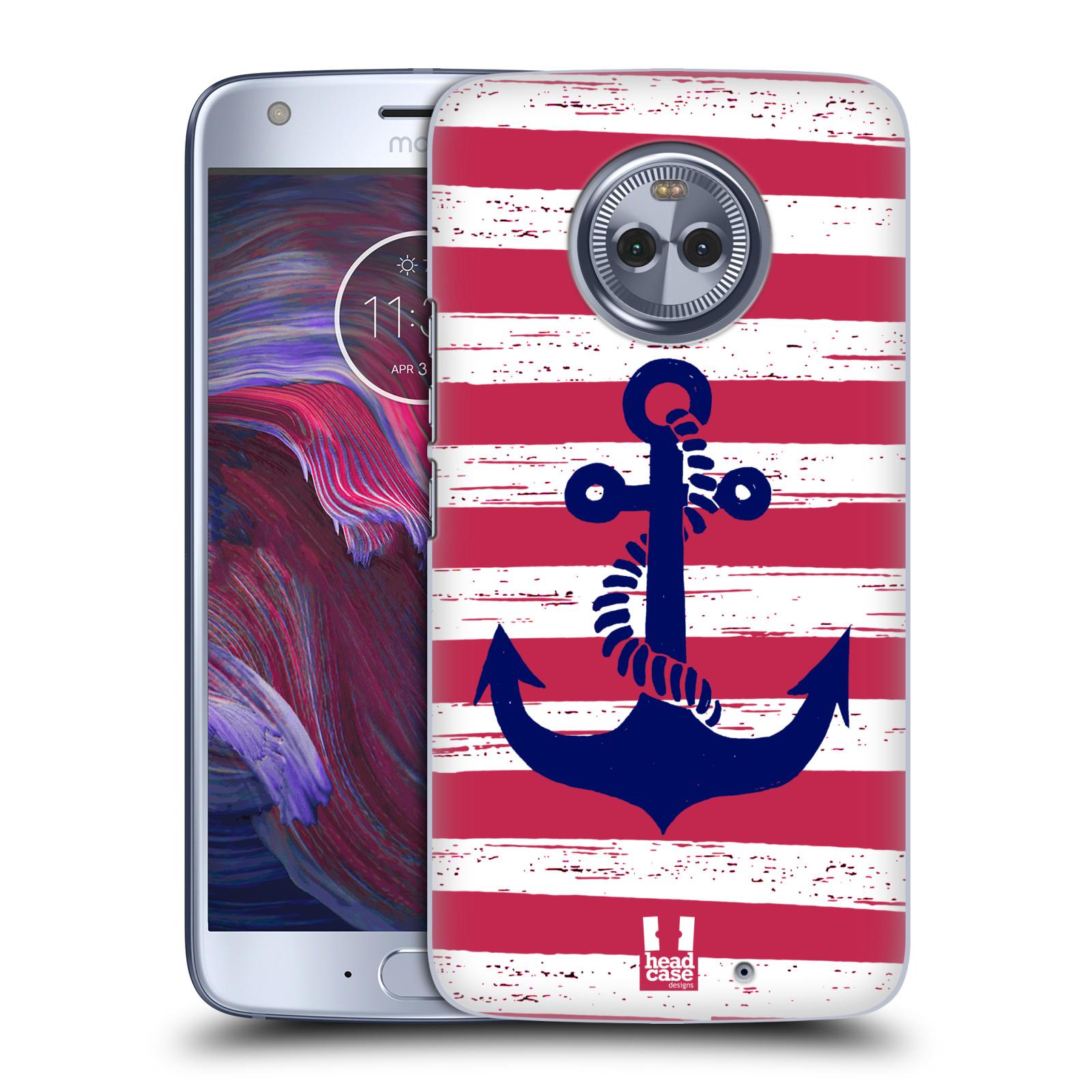 Plastové pouzdro na mobil Lenovo Moto X4 - Head Case - KOTVA S PRUHY