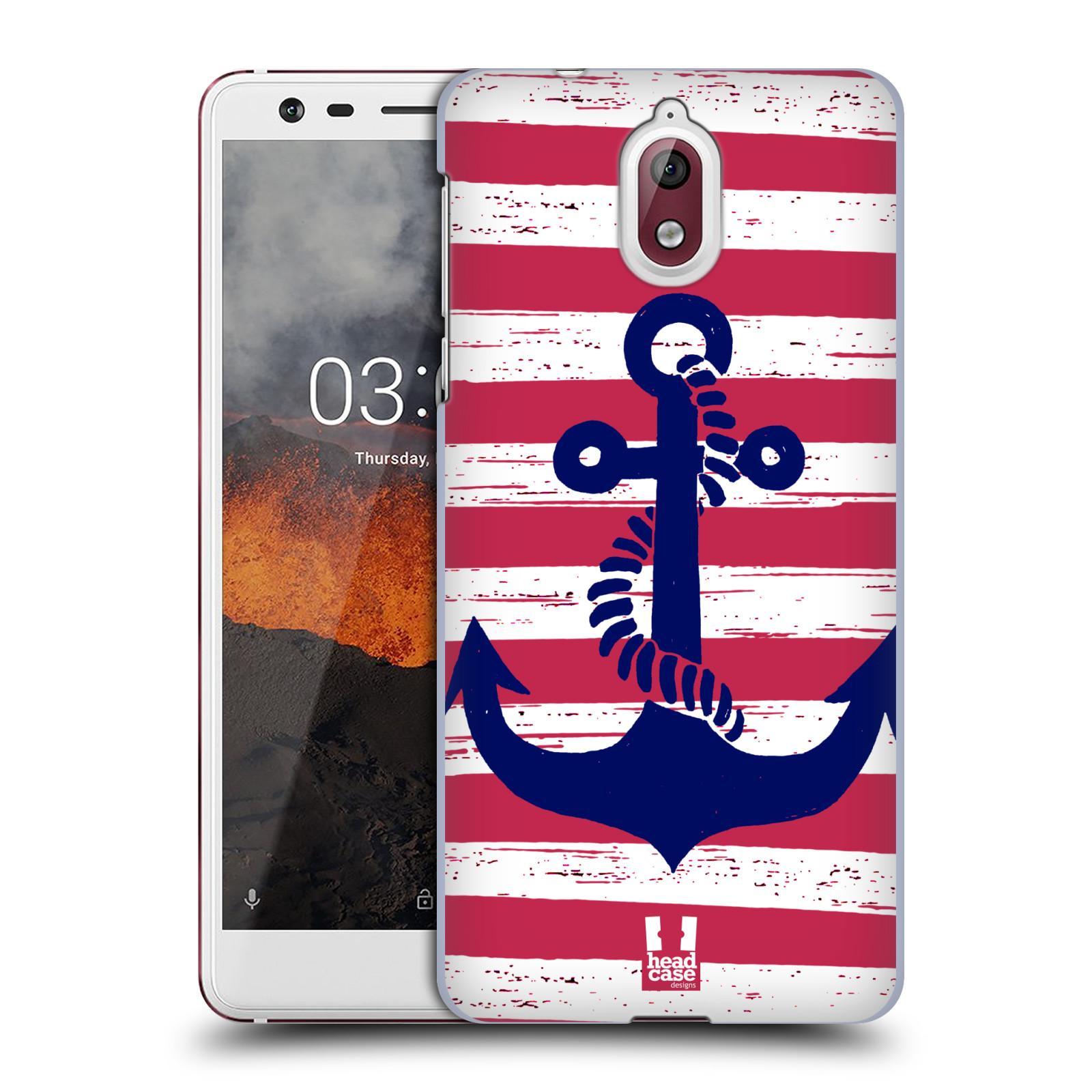 Plastové pouzdro na mobil Nokia 3.1 - Head Case - KOTVA S PRUHY