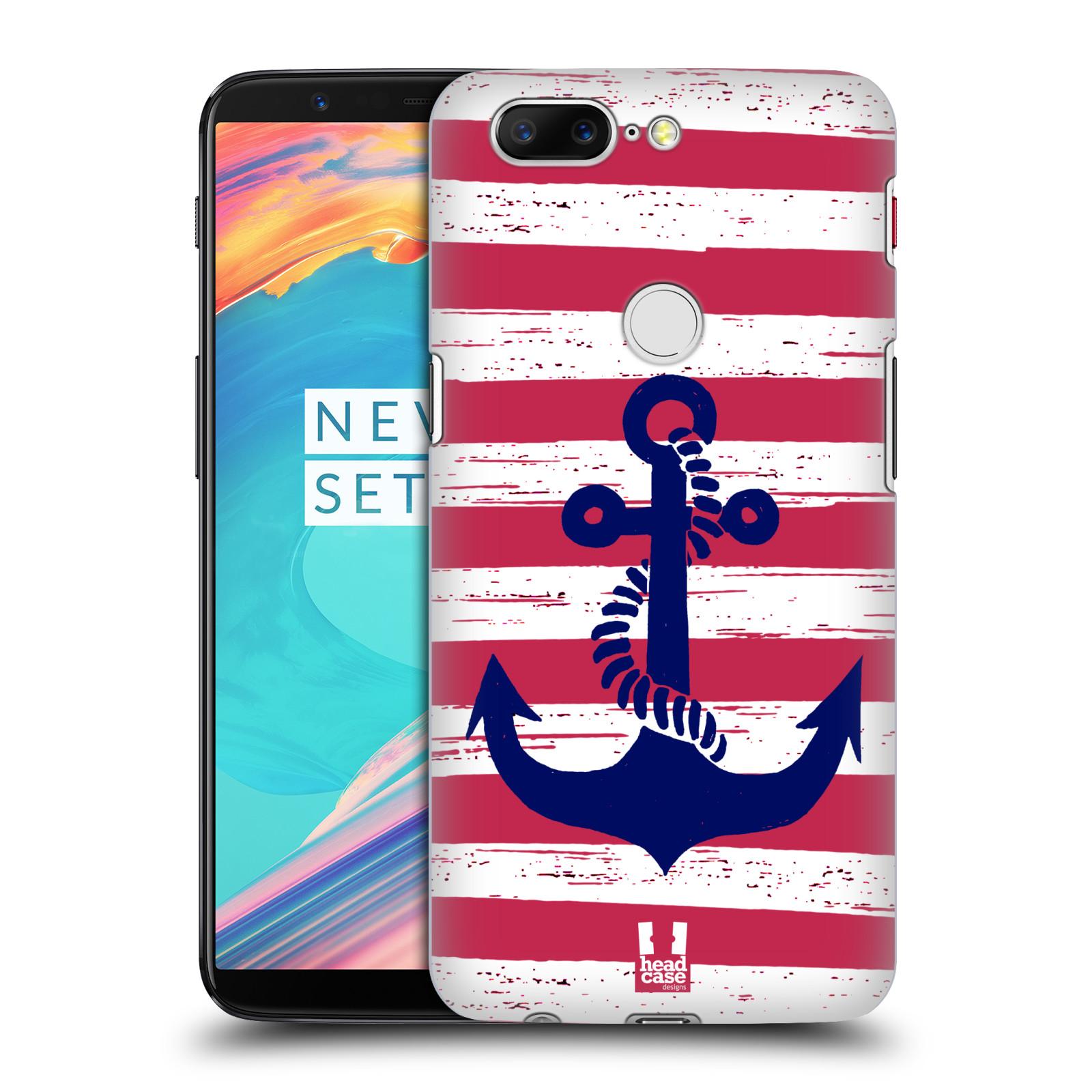 Plastové pouzdro na mobil OnePlus 5T - Head Case - KOTVA S PRUHY