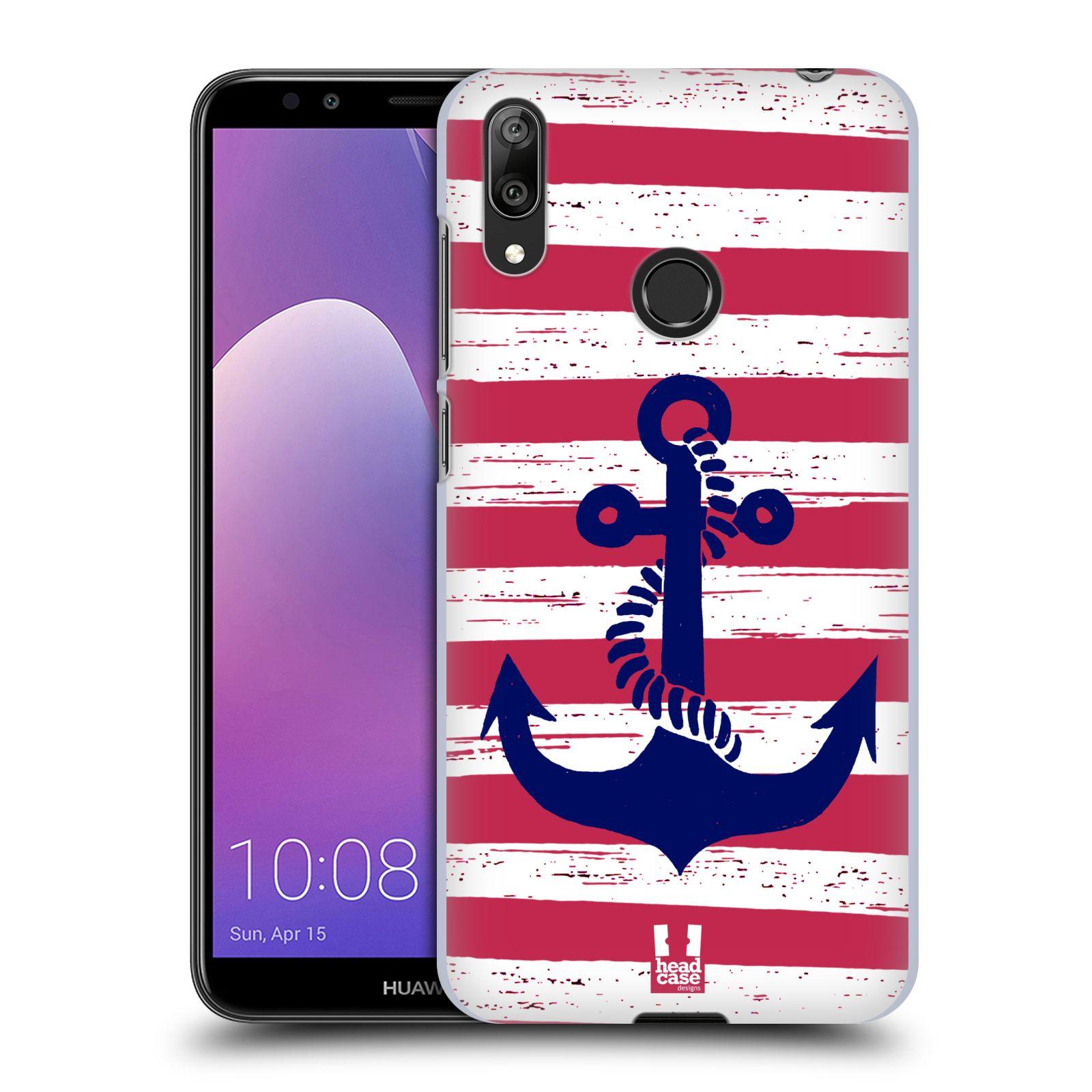 Plastové pouzdro na mobil Huawei Y7 (2019) - Head Case - KOTVA S PRUHY