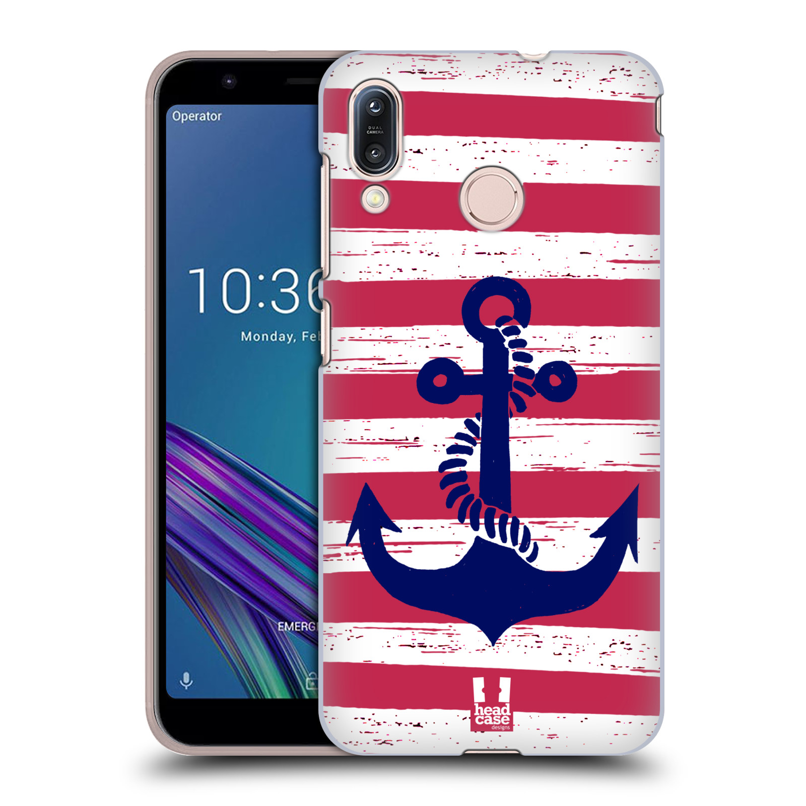 Plastové pouzdro na mobil Asus Zenfone Max M1 ZB555KL - Head Case - KOTVA S PRUHY