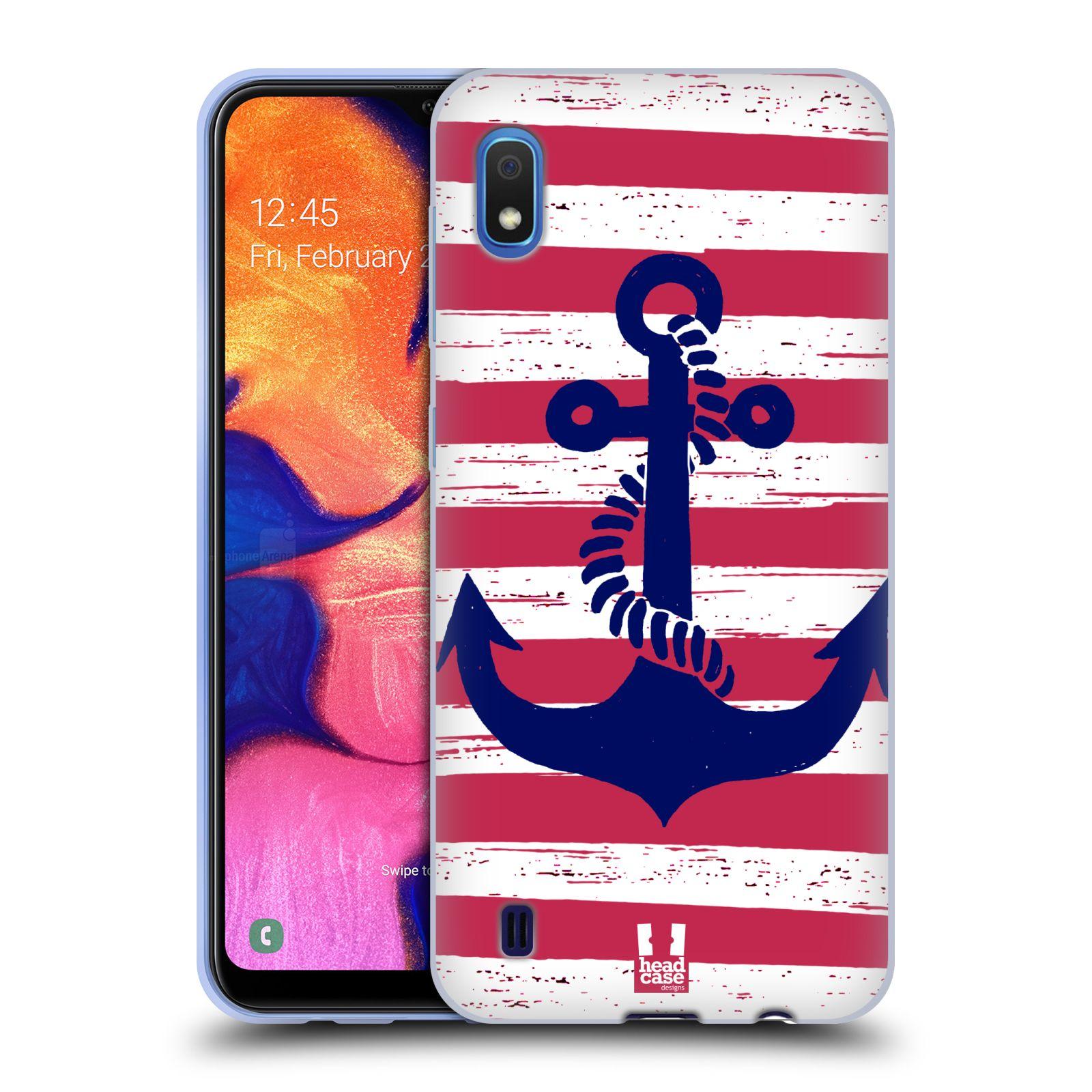 Silikonové pouzdro na mobil Samsung Galaxy A10 - Head Case - KOTVA S PRUHY