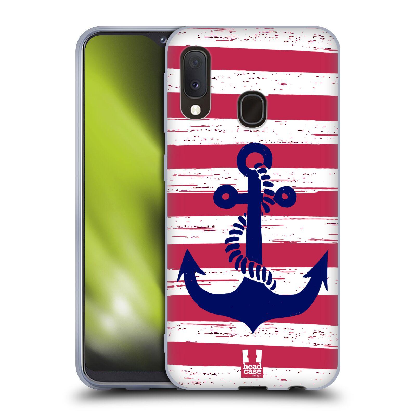 Silikonové pouzdro na mobil Samsung Galaxy A20e - Head Case - KOTVA S PRUHY