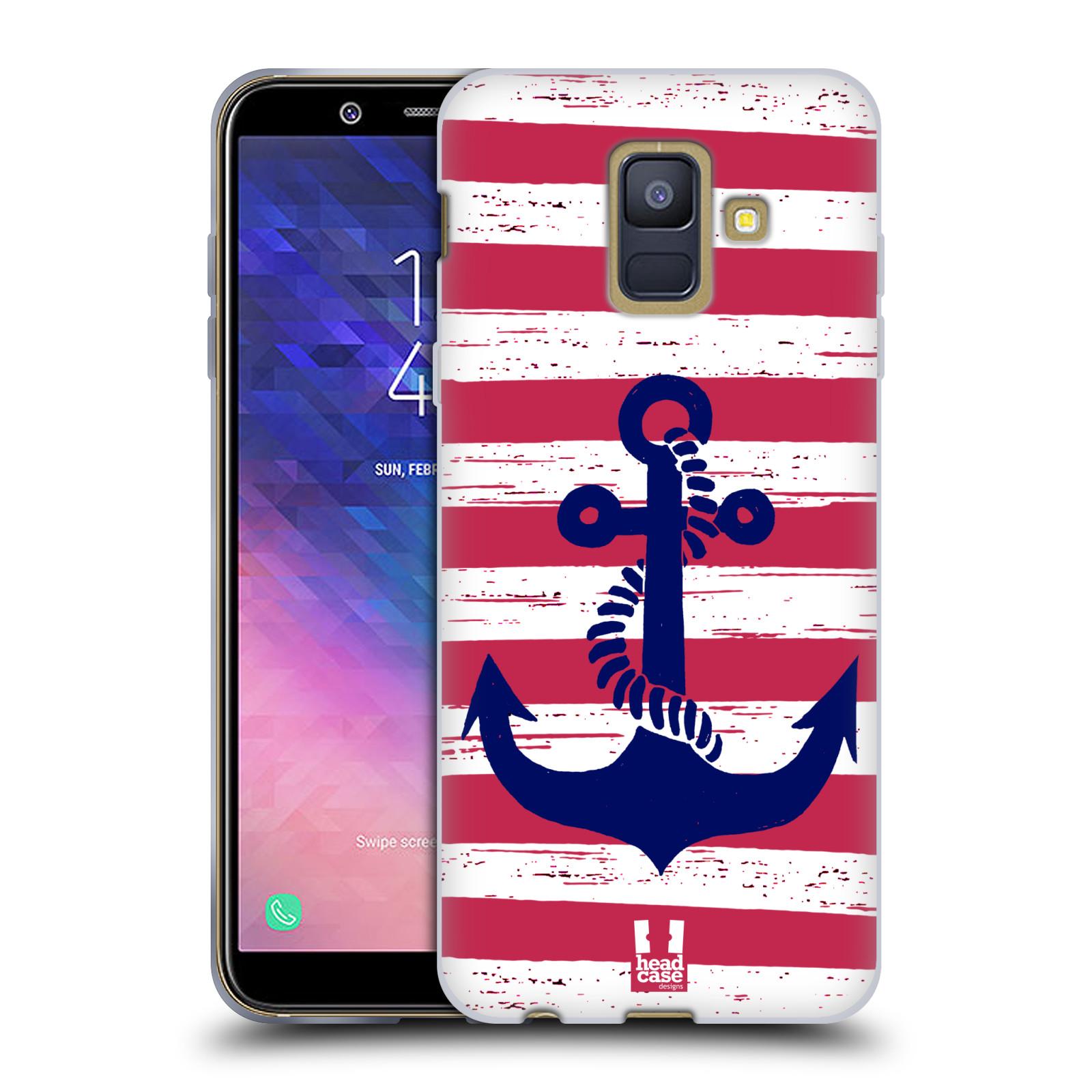 Silikonové pouzdro na mobil Samsung Galaxy A6 (2018) - Head Case - KOTVA S PRUHY