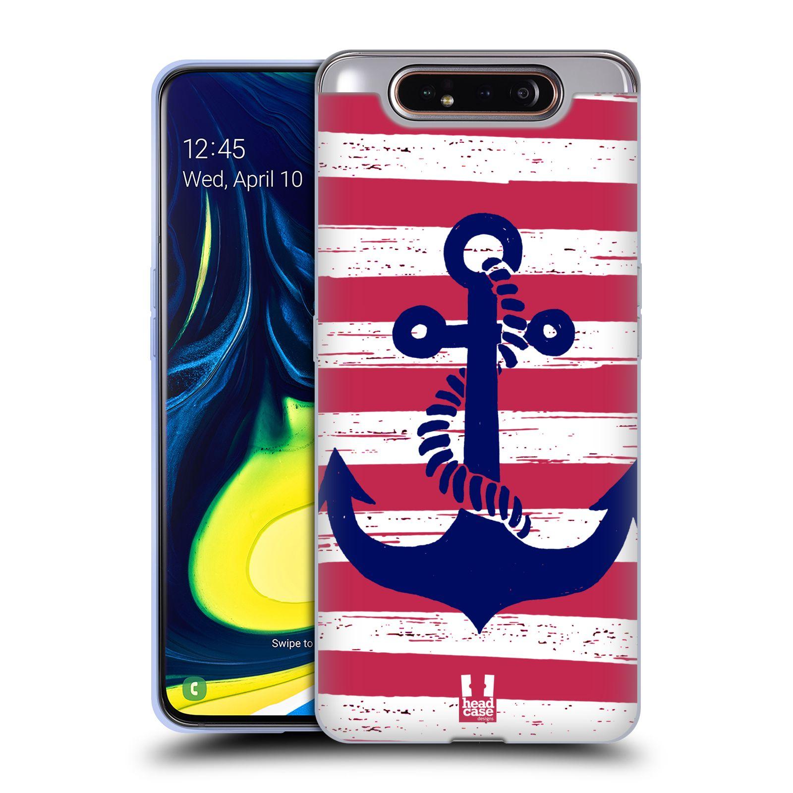 Silikonové pouzdro na mobil Samsung Galaxy A80 - Head Case - KOTVA S PRUHY