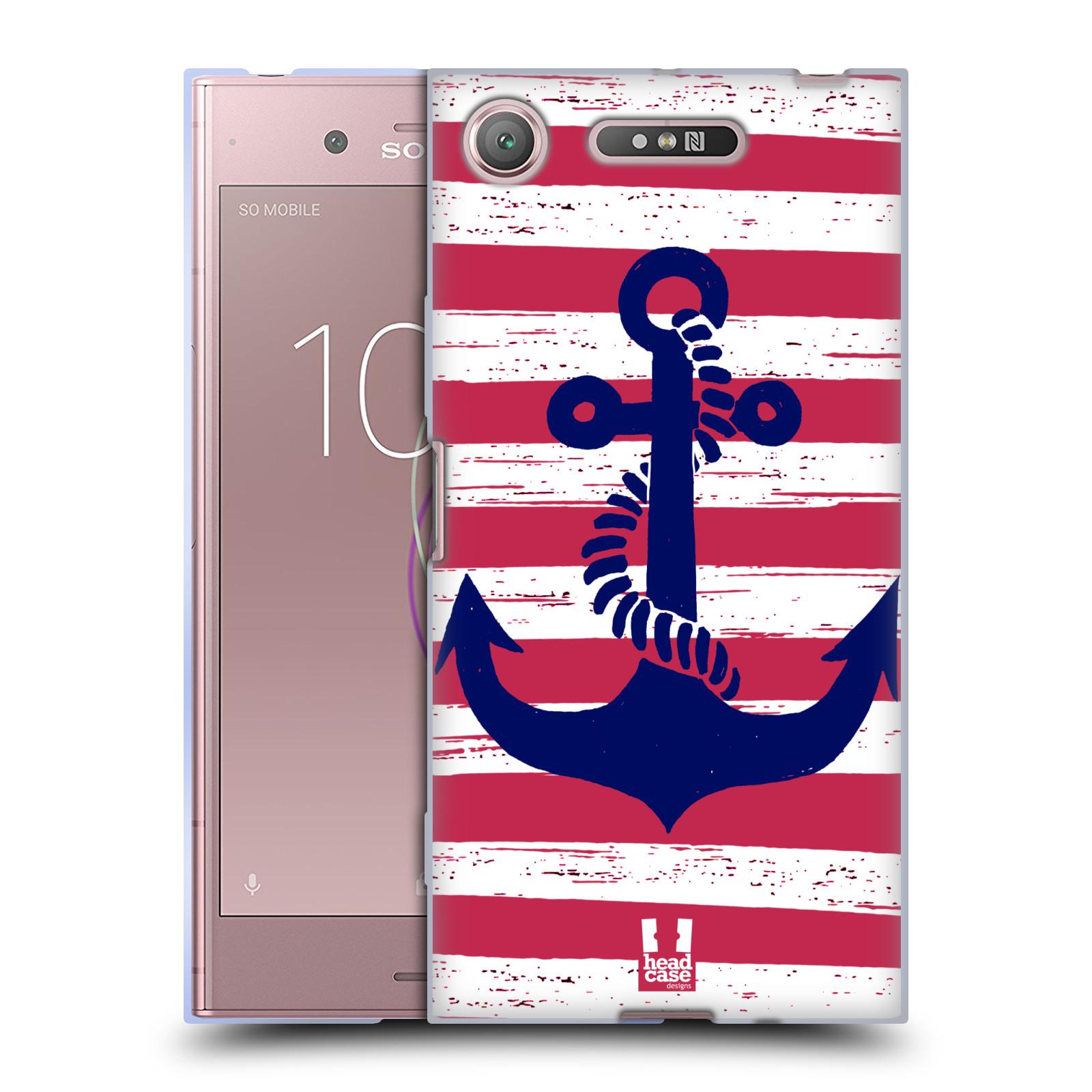 Silikonové pouzdro na mobil Sony Xperia XZ1 - Head Case - KOTVA S PRUHY