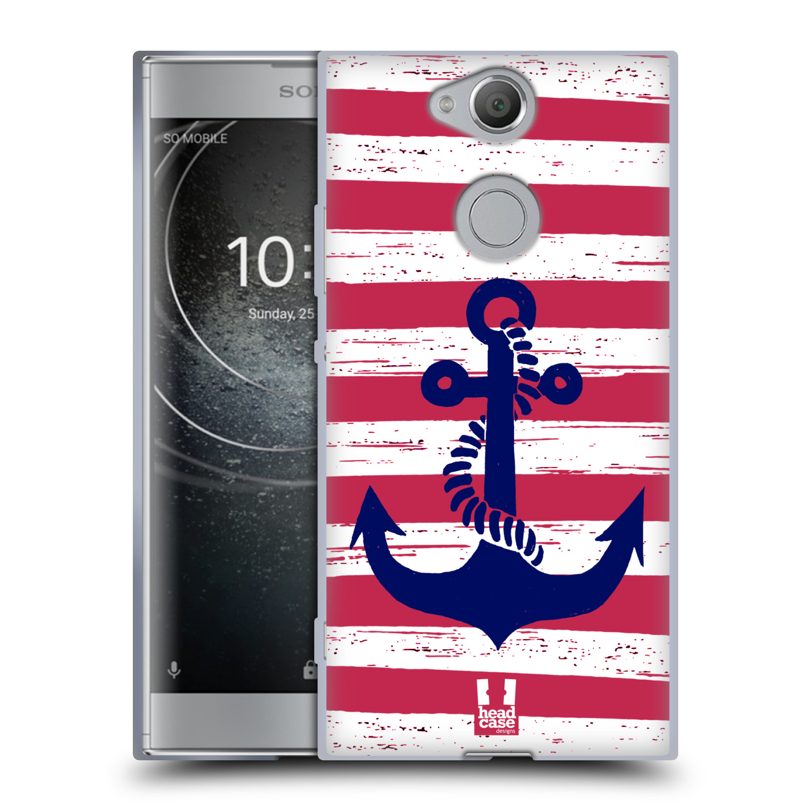 Silikonové pouzdro na mobil Sony Xperia XA2 - Head Case - KOTVA S PRUHY