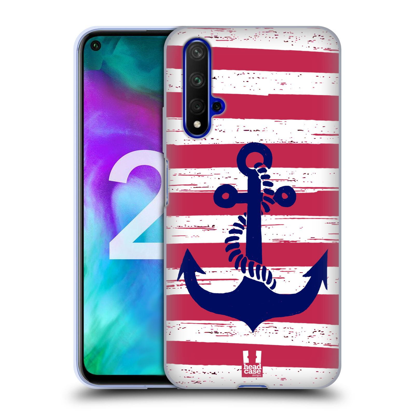 Silikonové pouzdro na mobil Honor 20 - Head Case - KOTVA S PRUHY