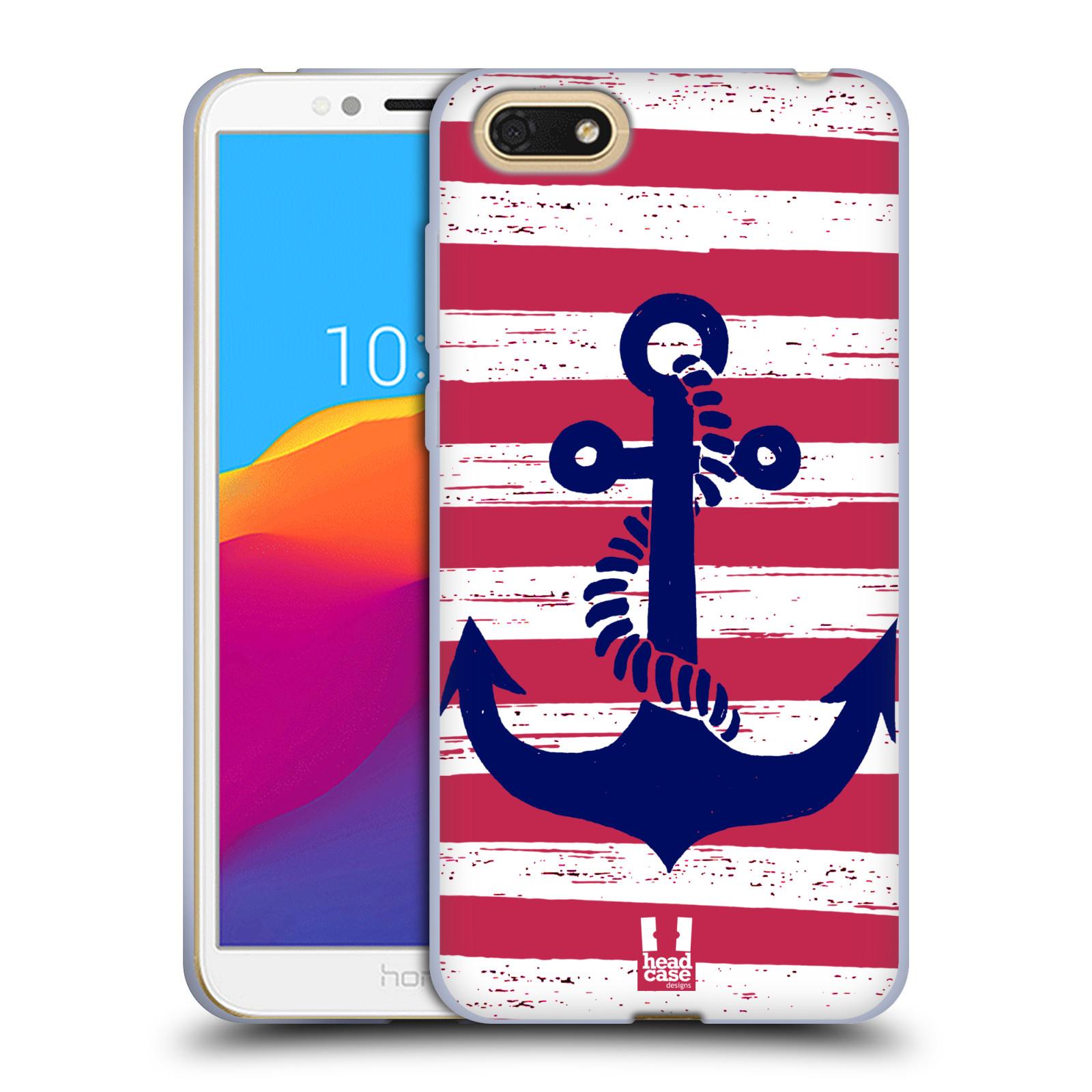 Silikonové pouzdro na mobil Honor 7S - Head Case - KOTVA S PRUHY