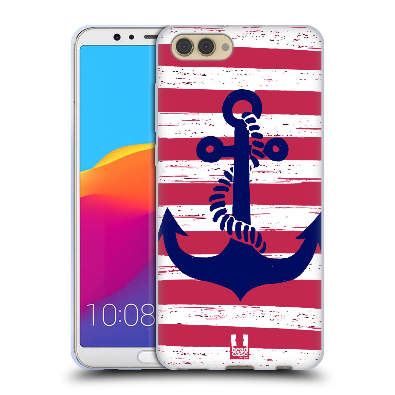 Silikonové pouzdro na mobil Honor View 10 - Head Case - KOTVA S PRUHY