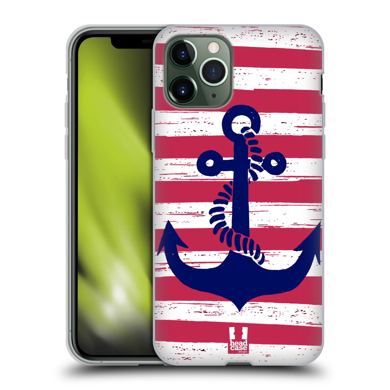 iphone 8 plus obal guess , Silikonové pouzdro na mobil Apple iPhone 11 Pro - Head Case - KOTVA S PRUHY