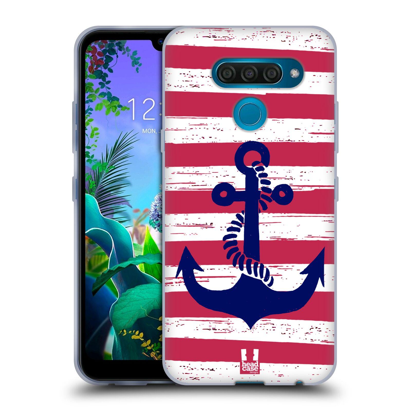 Silikonové pouzdro na mobil LG Q60 - Head Case - KOTVA S PRUHY