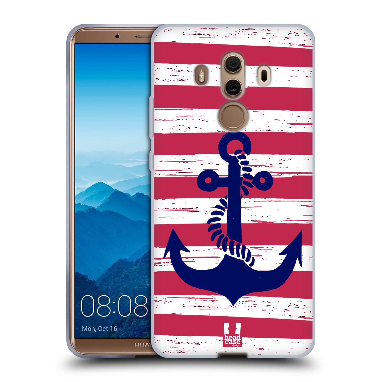 Silikonové pouzdro na mobil Huawei Mate 10 Pro - Head Case - KOTVA S PRUHY