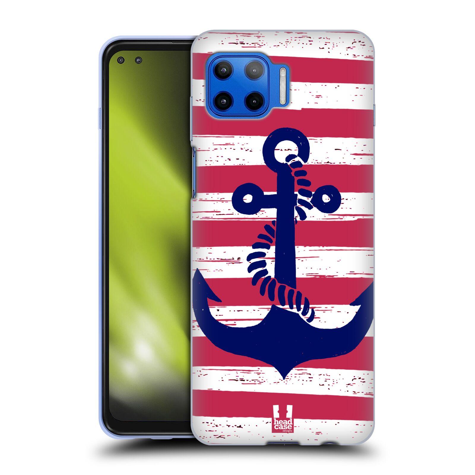 Silikonové pouzdro na mobil Motorola Moto G 5G Plus - Head Case - KOTVA S PRUHY