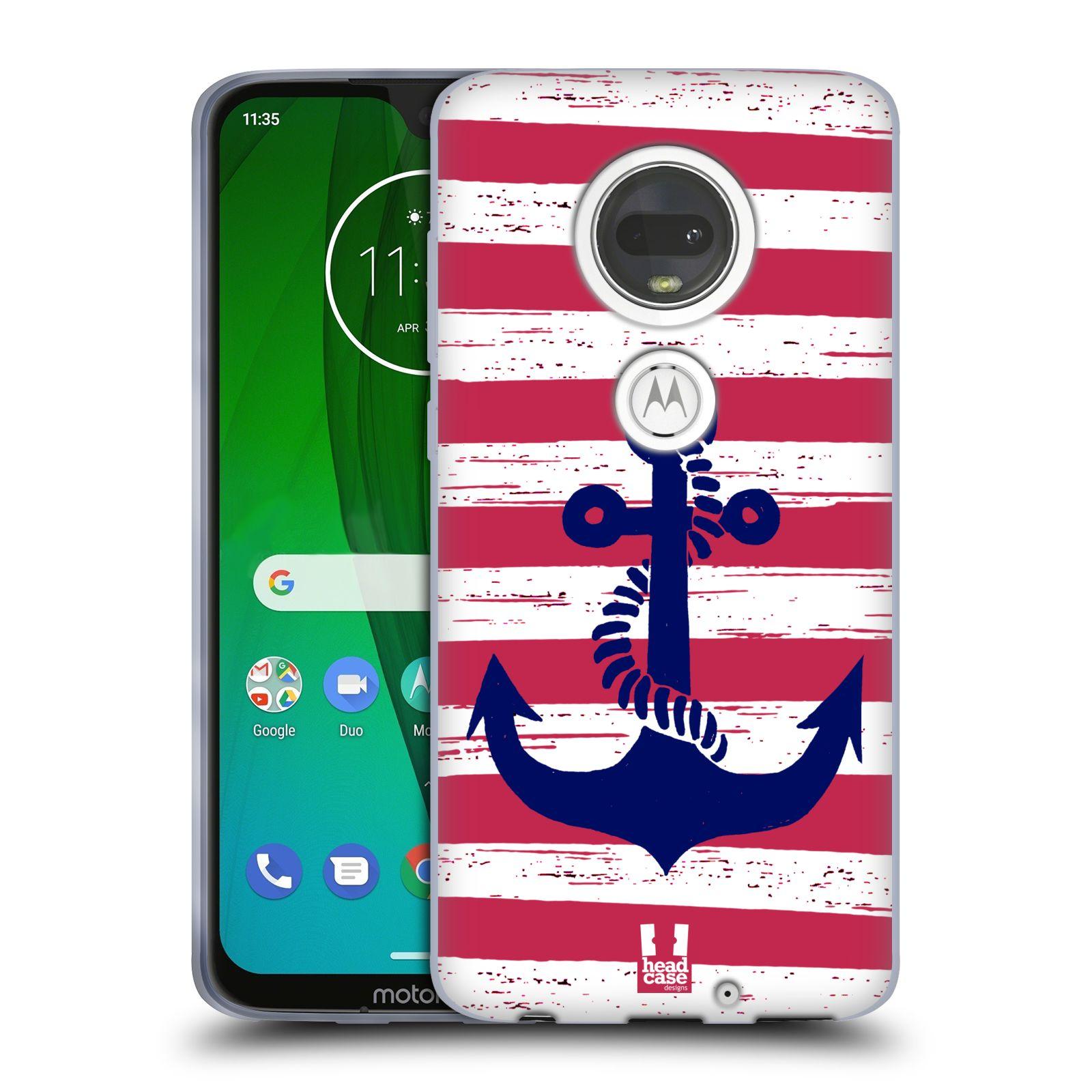 Silikonové pouzdro na mobil Motorola Moto G7 - Head Case - KOTVA S PRUHY