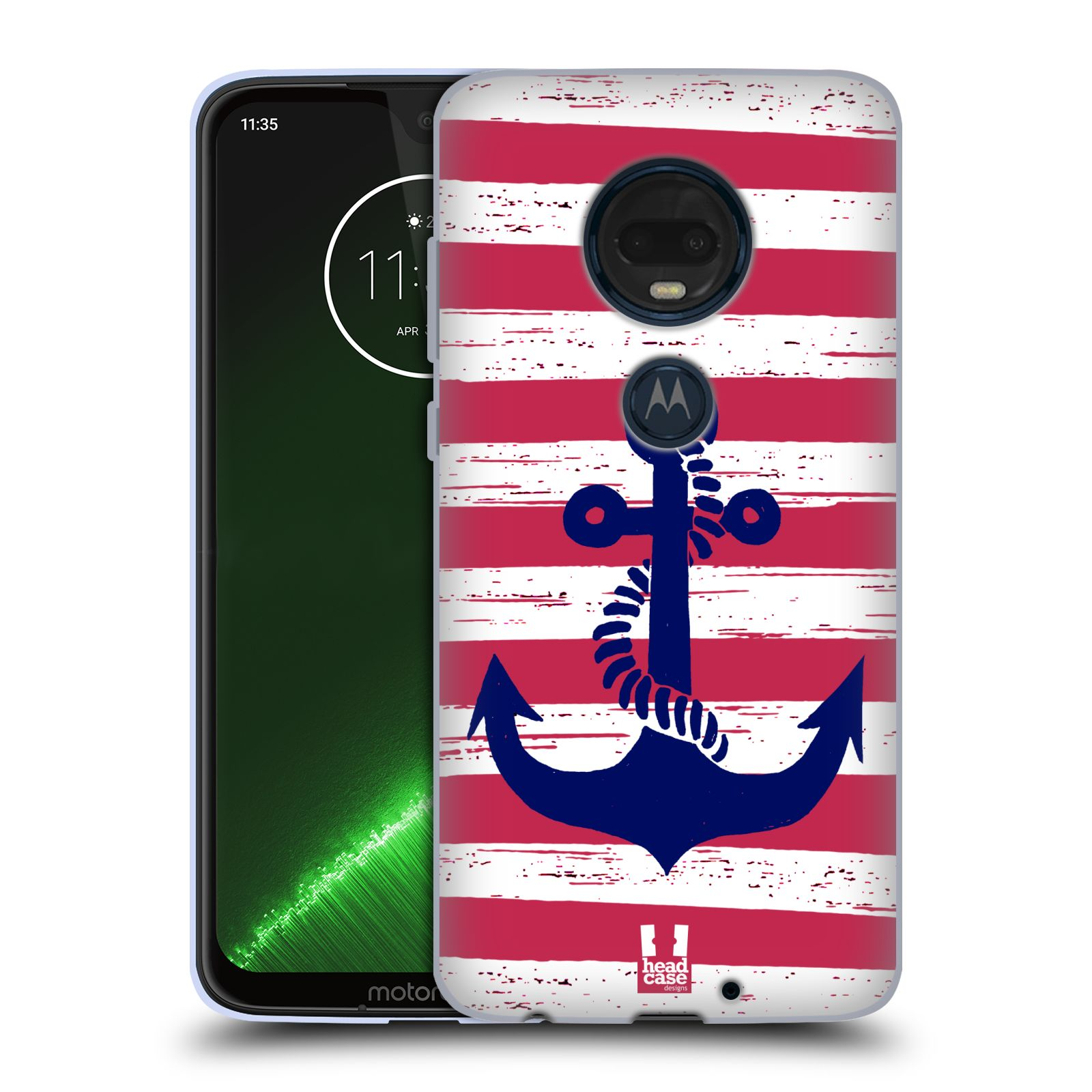Silikonové pouzdro na mobil Motorola Moto G7 Plus - Head Case - KOTVA S PRUHY