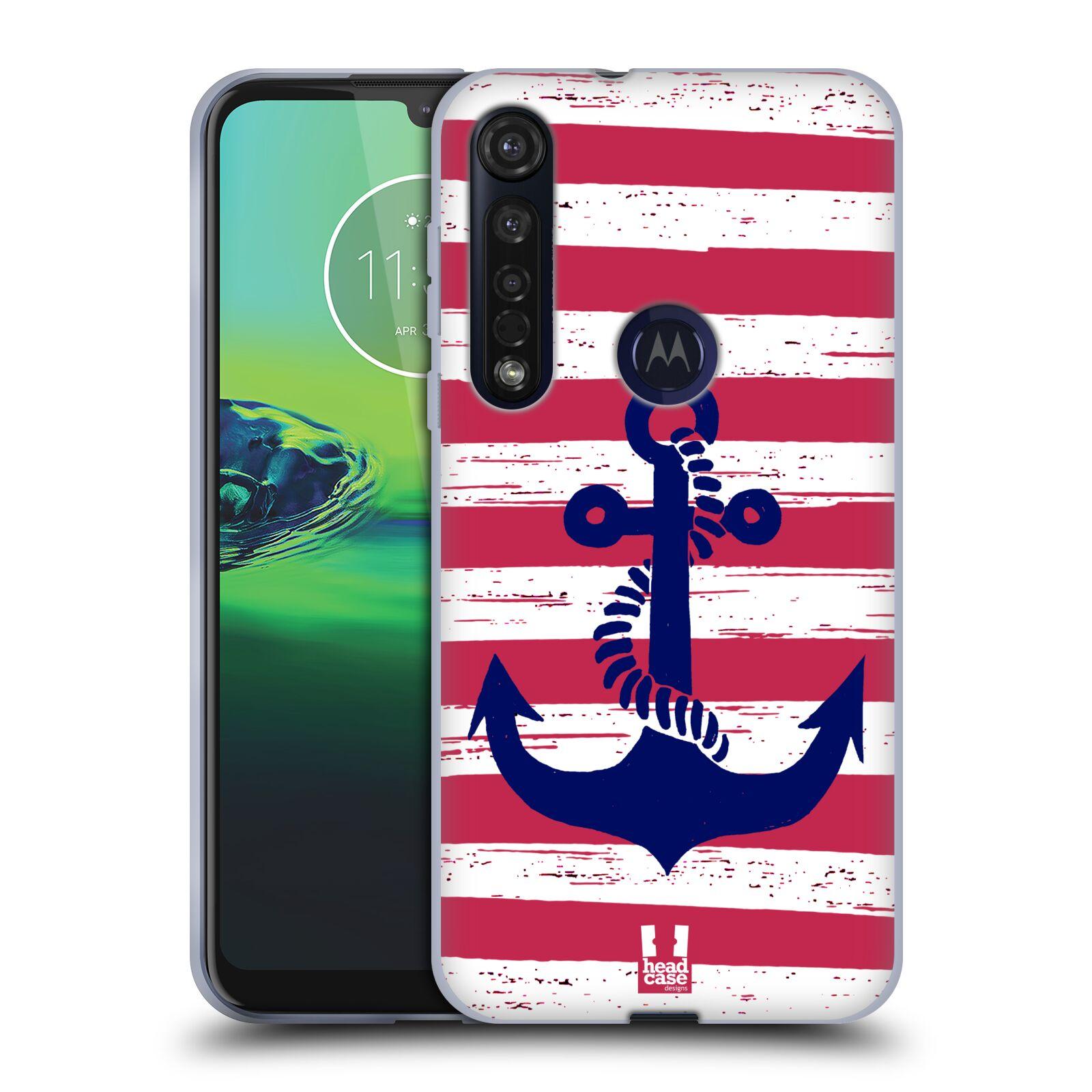 Silikonové pouzdro na mobil Motorola Moto G8 Plus - Head Case - KOTVA S PRUHY