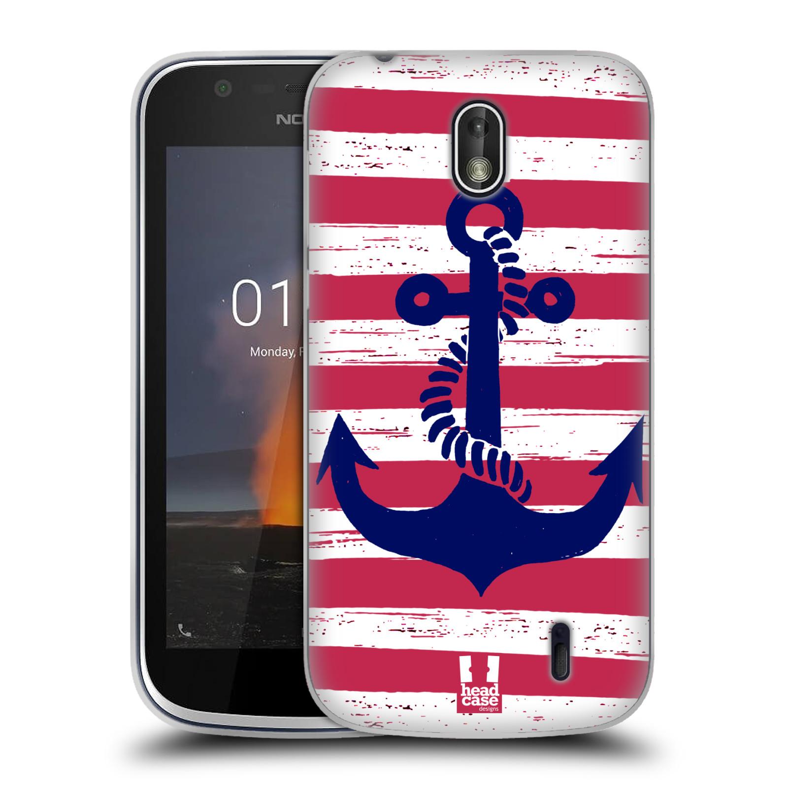 Silikonové pouzdro na mobil Nokia 1 - Head Case - KOTVA S PRUHY
