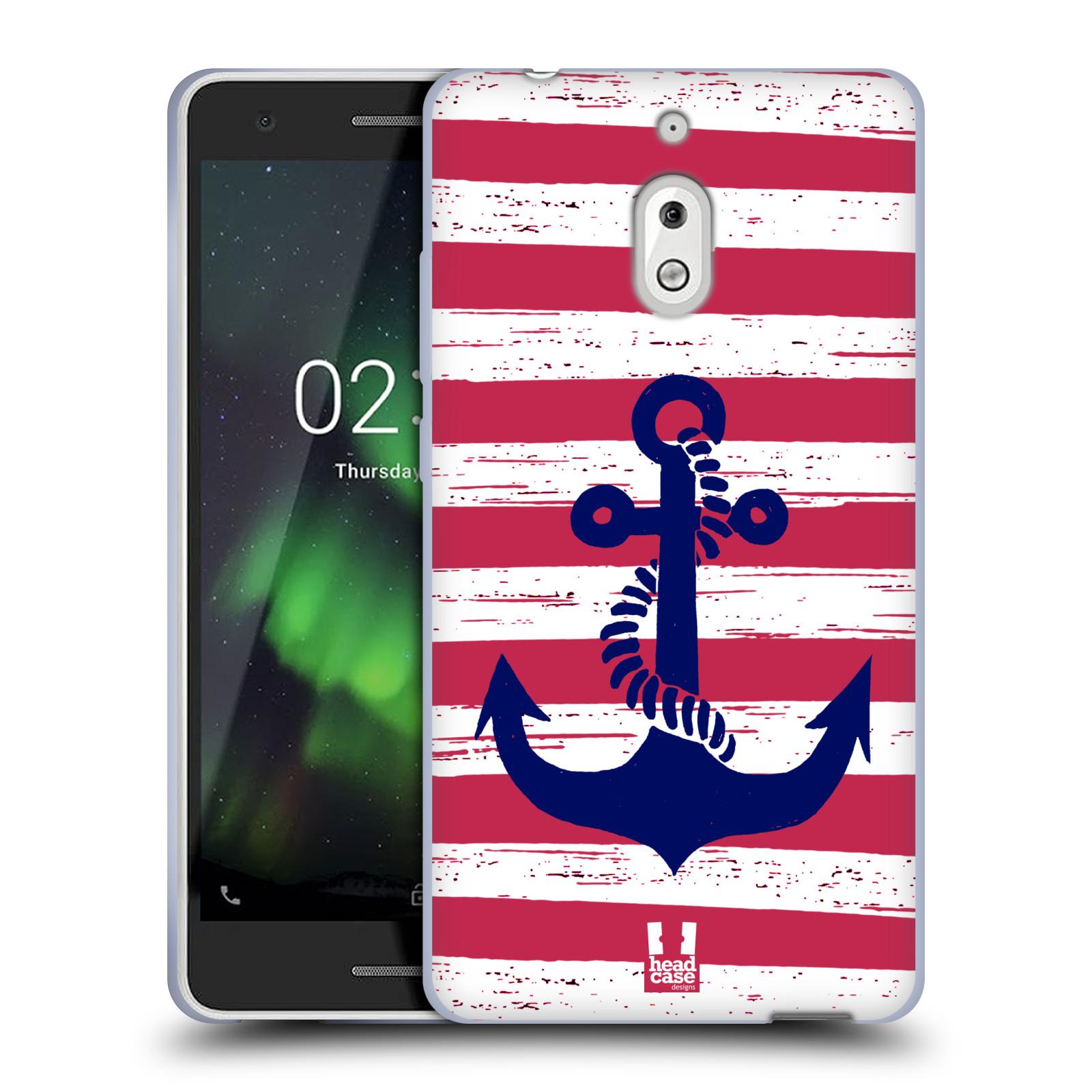 Silikonové pouzdro na mobil Nokia 2.1 - Head Case - KOTVA S PRUHY