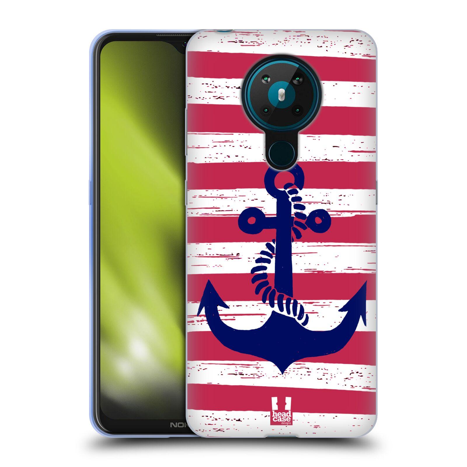 Silikonové pouzdro na mobil Nokia 5.3 - Head Case - KOTVA S PRUHY