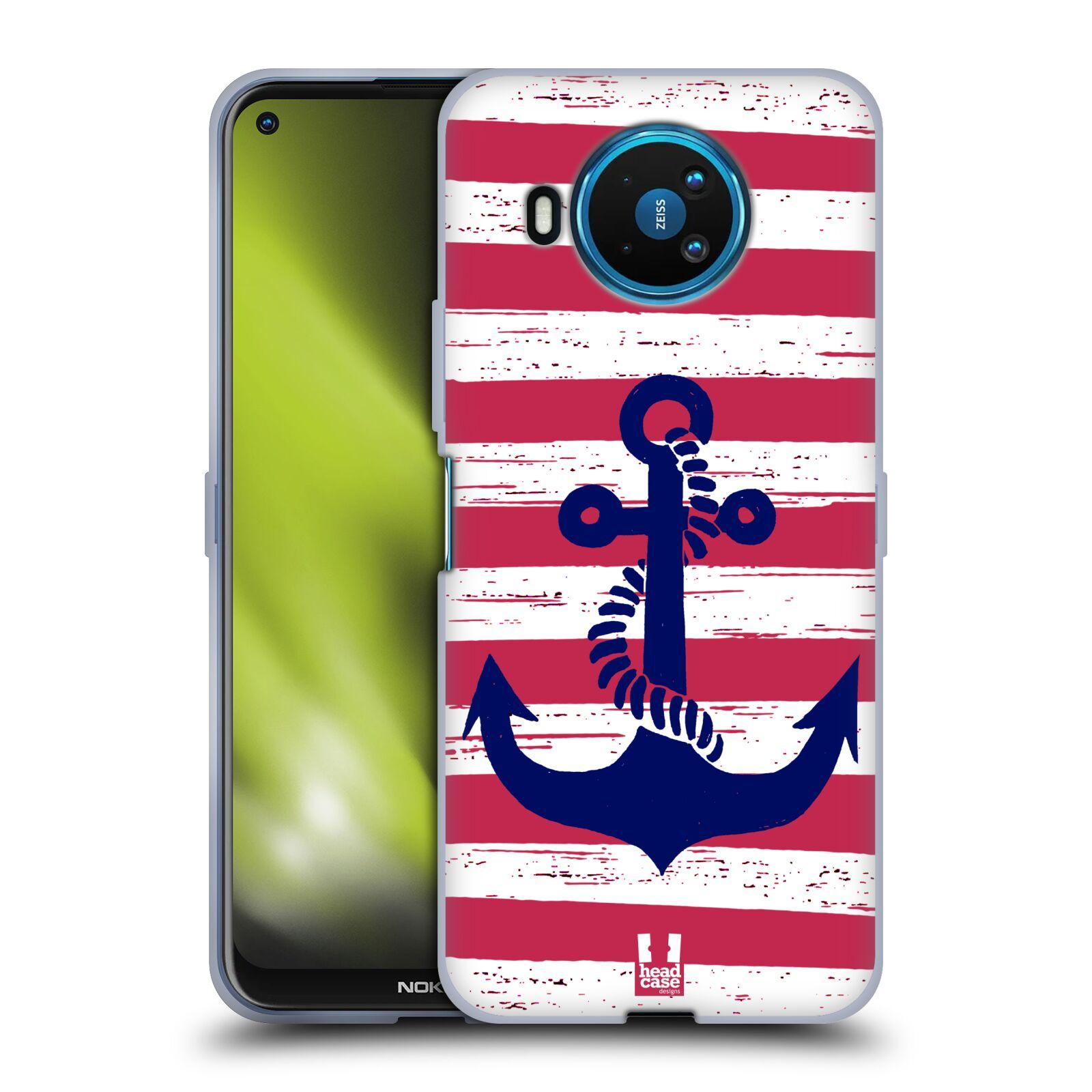 Silikonové pouzdro na mobil Nokia 8.3 5G - Head Case - KOTVA S PRUHY