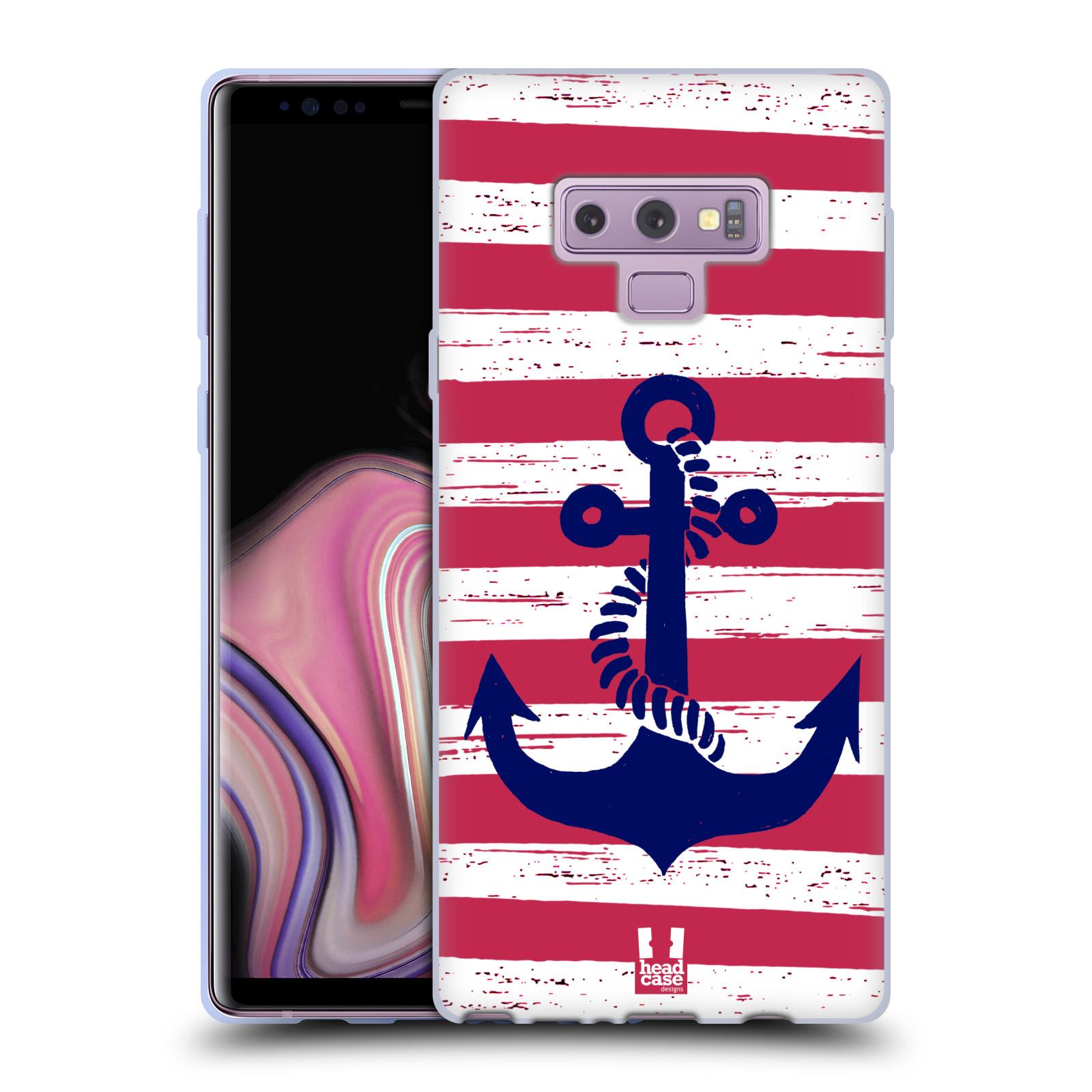 Silikonové pouzdro na mobil Samsung Galaxy Note 9 - Head Case - KOTVA S PRUHY