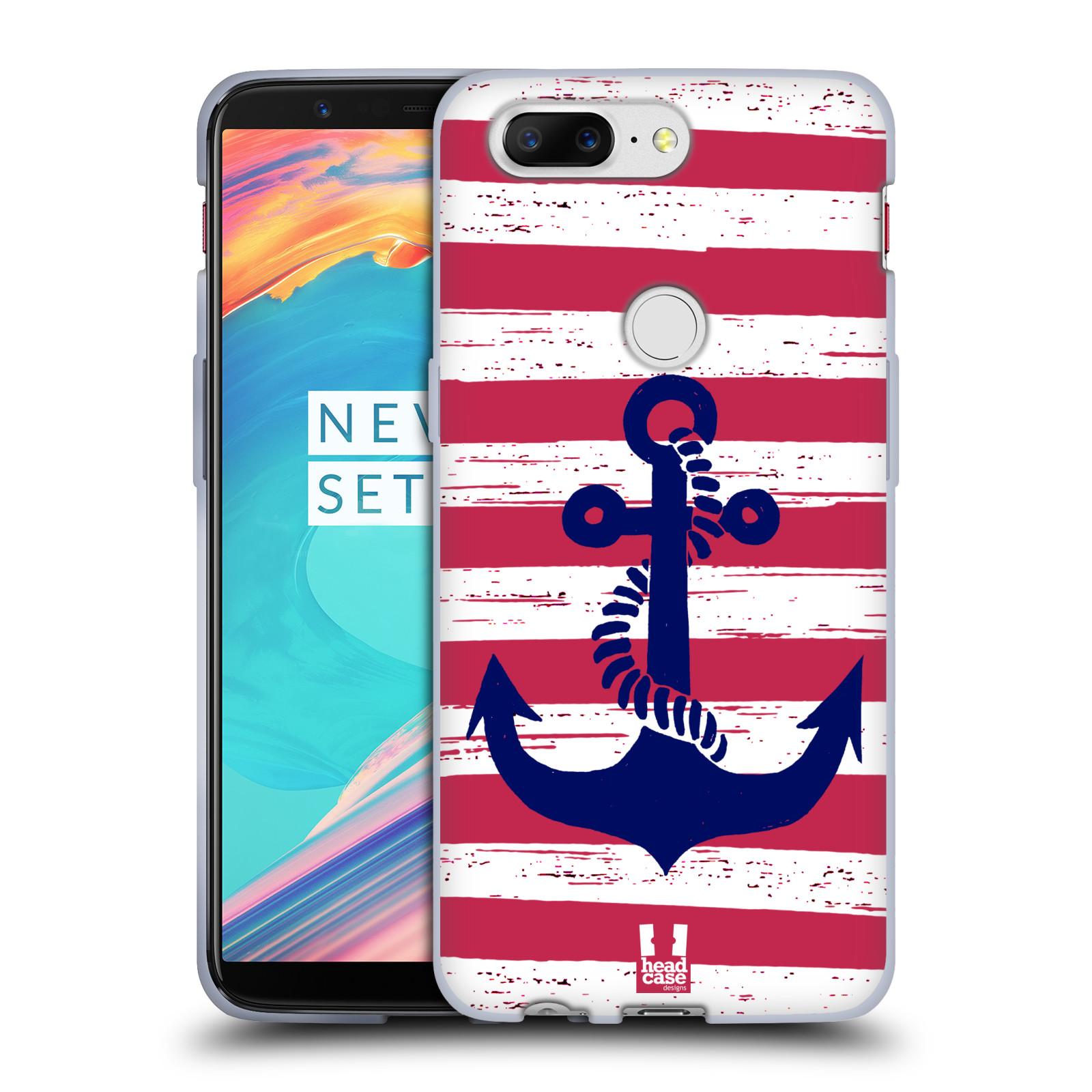 Silikonové pouzdro na mobil OnePlus 5T - Head Case - KOTVA S PRUHY