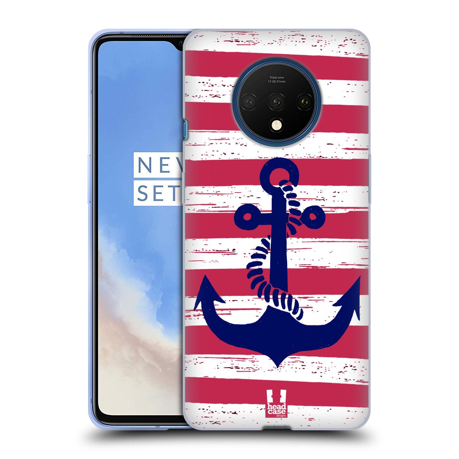 Silikonové pouzdro na mobil OnePlus 7T - Head Case - KOTVA S PRUHY
