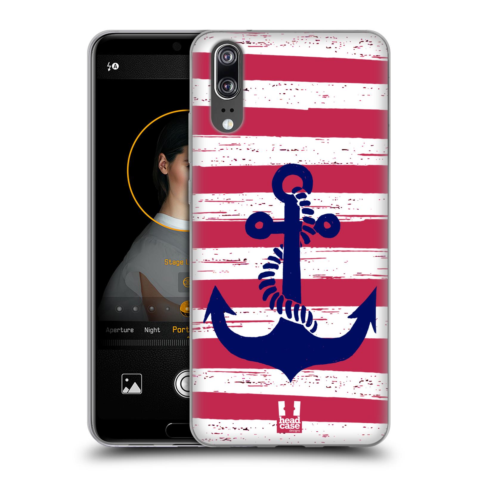 Silikonové pouzdro na mobil Huawei P20 - Head Case - KOTVA S PRUHY