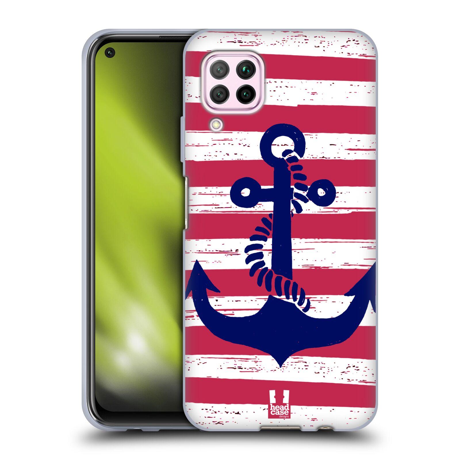 Silikonové pouzdro na mobil Huawei P40 Lite - Head Case - KOTVA S PRUHY