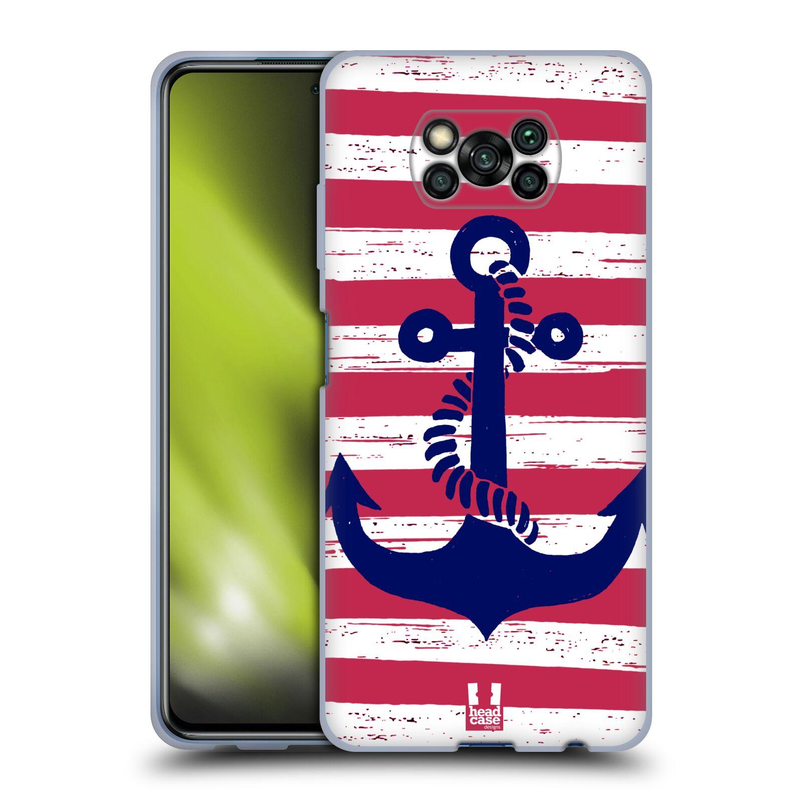 Silikonové pouzdro na mobil Xiaomi Poco X3 NFC - Head Case - KOTVA S PRUHY