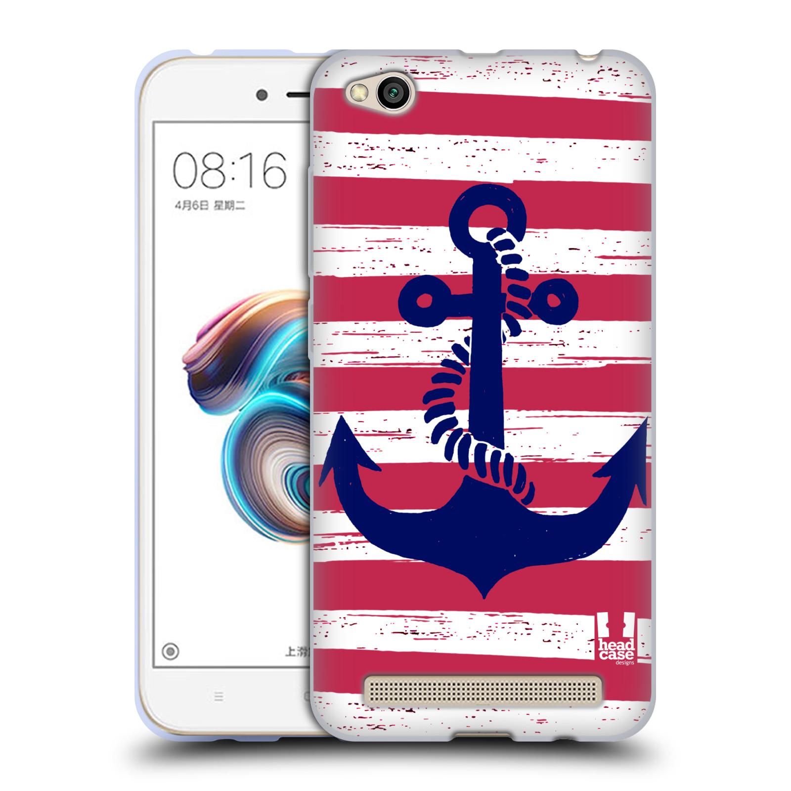 Silikonové pouzdro na mobil Xiaomi Redmi 5A - Head Case - KOTVA S PRUHY